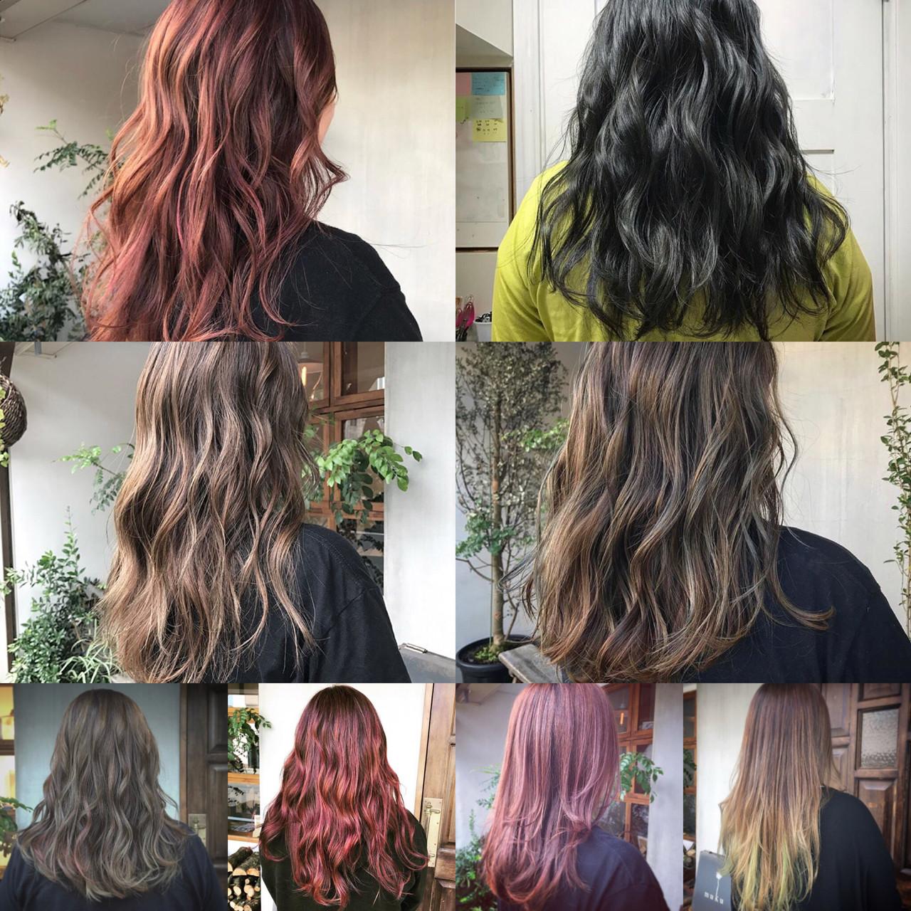 グラデーションカラー 外国人風 外国人風カラー ハイライト ヘアスタイルや髪型の写真・画像
