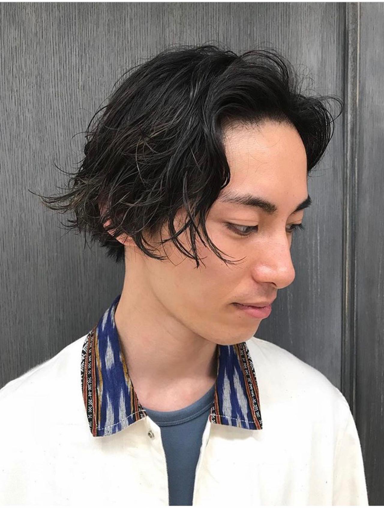 メンズカジュアル メンズパーマ ミディアム ストリート ヘアスタイルや髪型の写真・画像 | 澤江 啓司 / K-two KYOTO