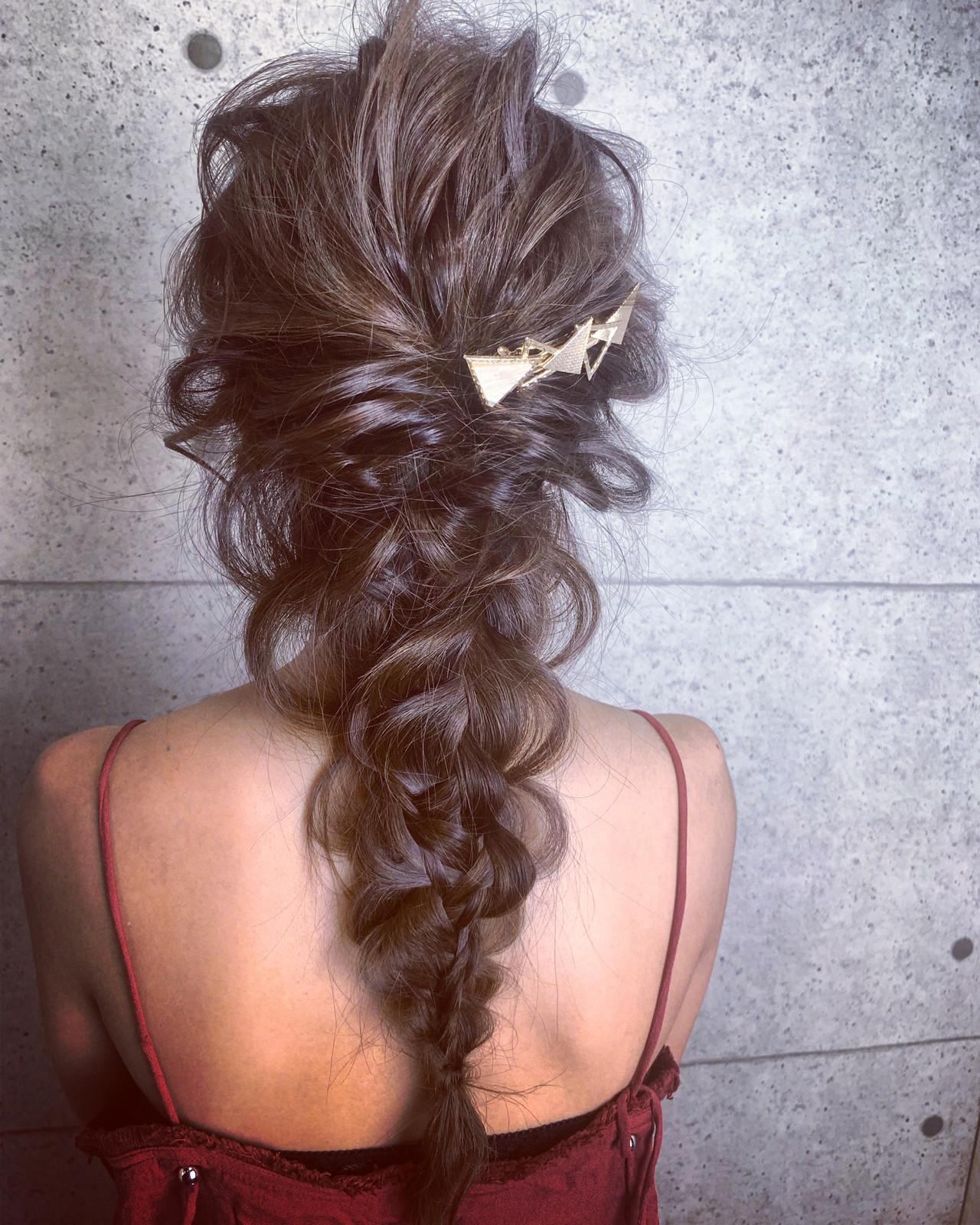デート 簡単ヘアアレンジ ロング 結婚式 ヘアスタイルや髪型の写真・画像