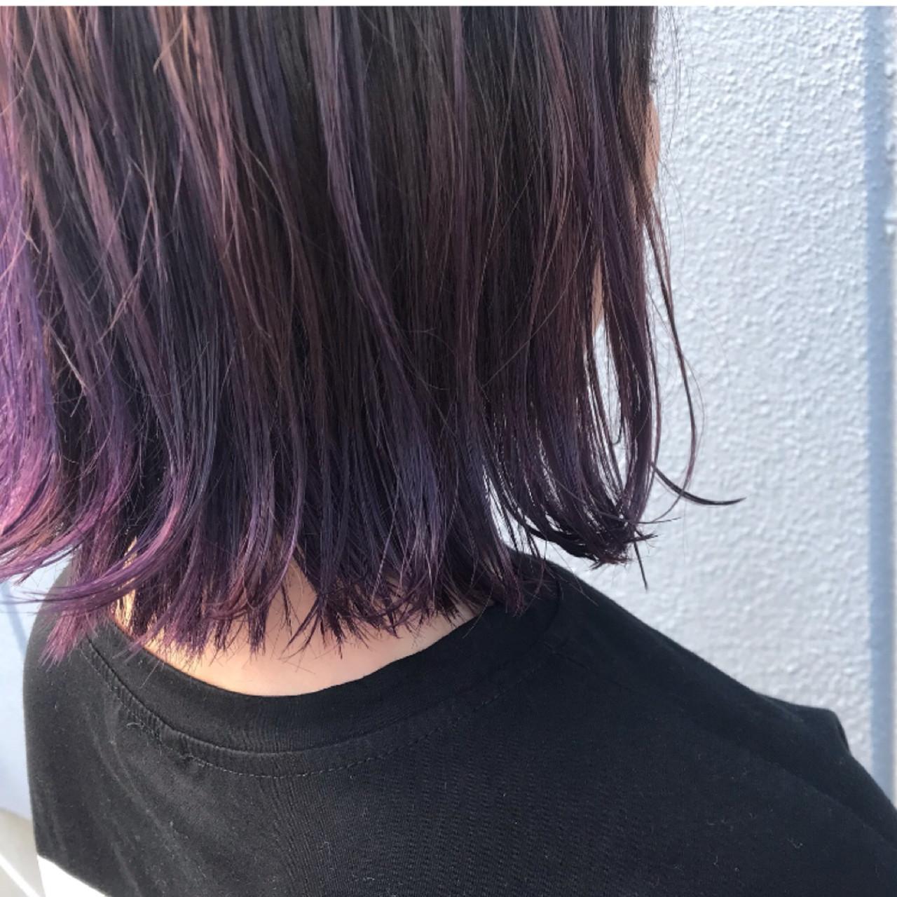 紫 可愛い ボブ お洒落|中津市美容室Lien 平岡和浩 494705【HAIR】