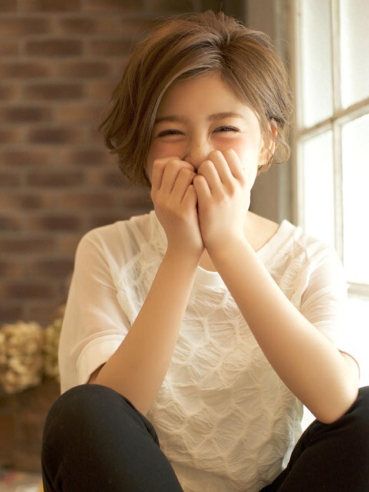 ショート ショートボブ 大人かわいい アッシュ ヘアスタイルや髪型の写真・画像 | Seiichi Bekku / BEKKU hair salon