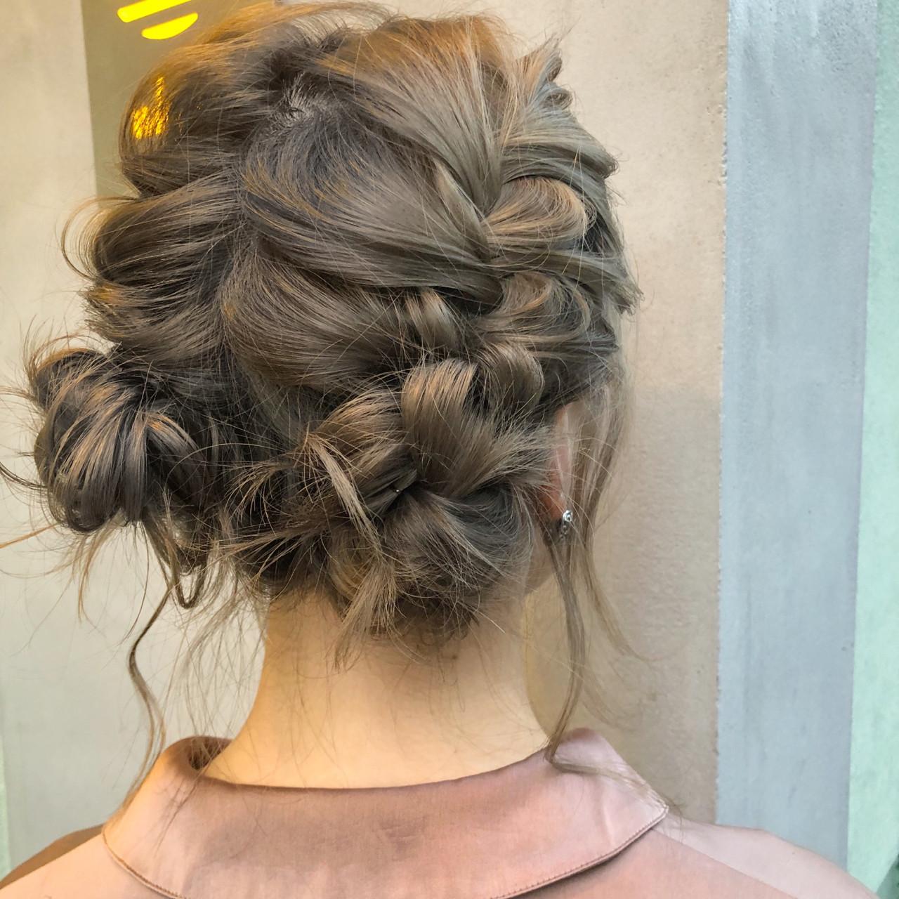 簡単ヘアアレンジ デート ガーリー ヘアアレンジ ヘアスタイルや髪型の写真・画像