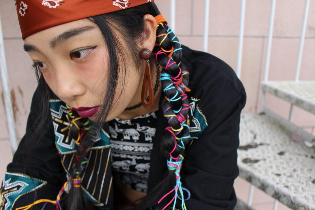 ガーリー ロング 個性的 外国人風 ヘアスタイルや髪型の写真・画像