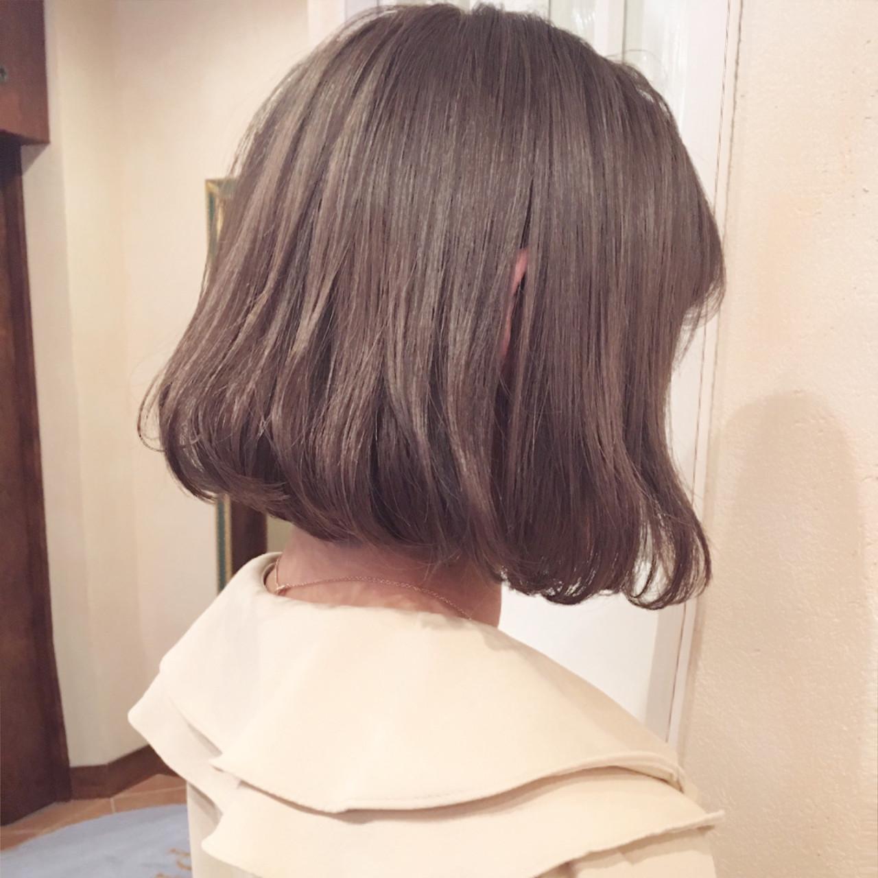 ボブ ナチュラル ミニボブ 小顔 ヘアスタイルや髪型の写真・画像