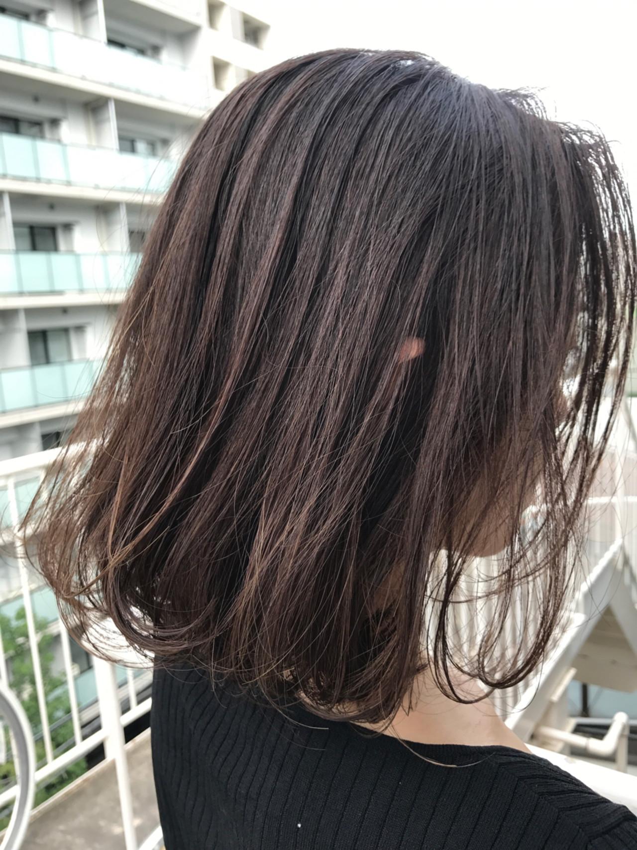 ボブ 大人女子 ナチュラル ワンカール ヘアスタイルや髪型の写真・画像 | miya/@1031miya / フリーランス(XENA)