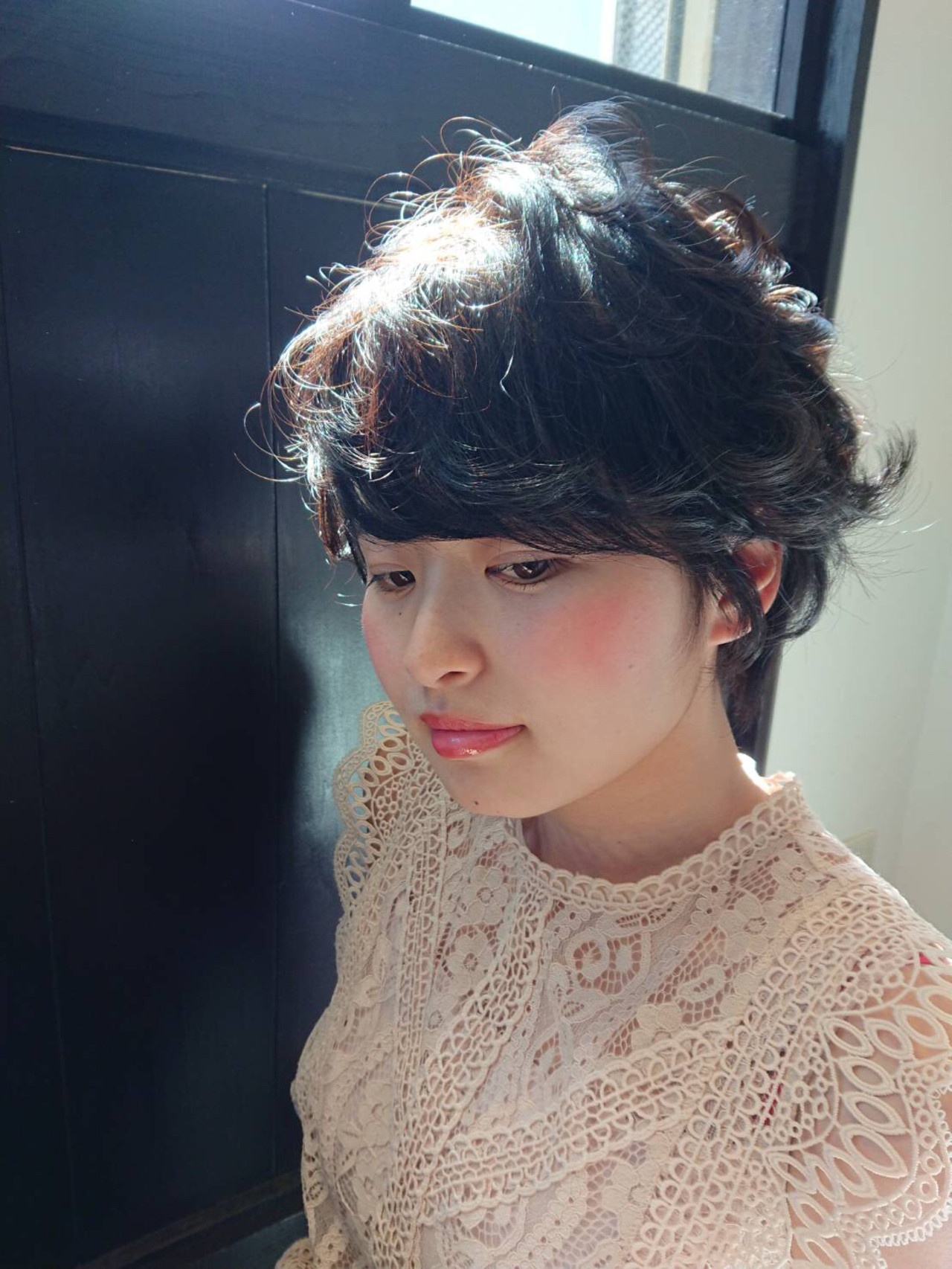 黒髪 デート ショート 前髪 ヘアスタイルや髪型の写真・画像 | Reina /