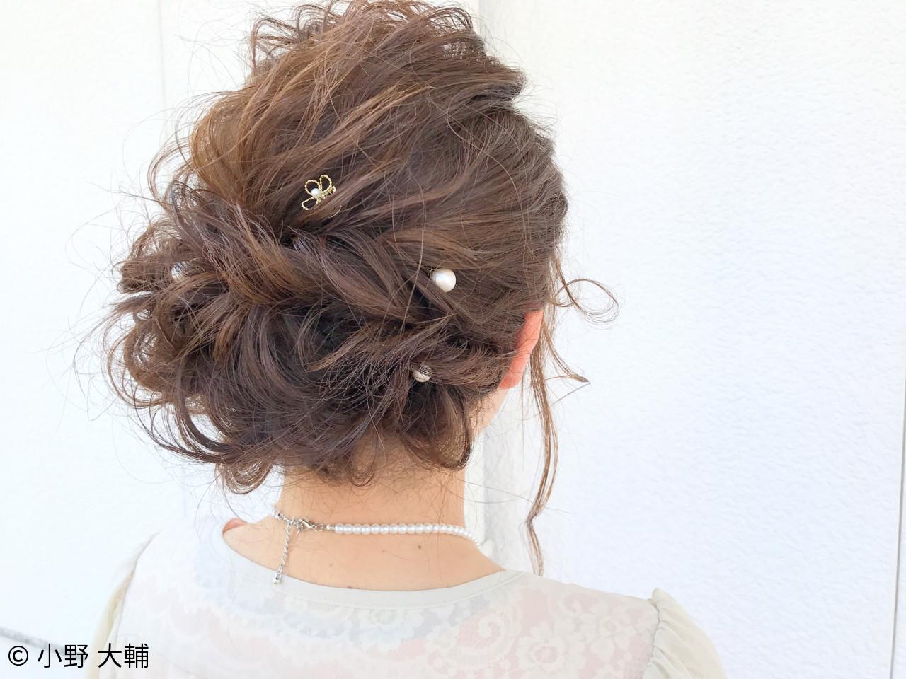 ヘアアレンジ 女子会 パーティ ナチュラル ヘアスタイルや髪型の写真・画像 | 小野 大輔 / OHIA  for plumeria