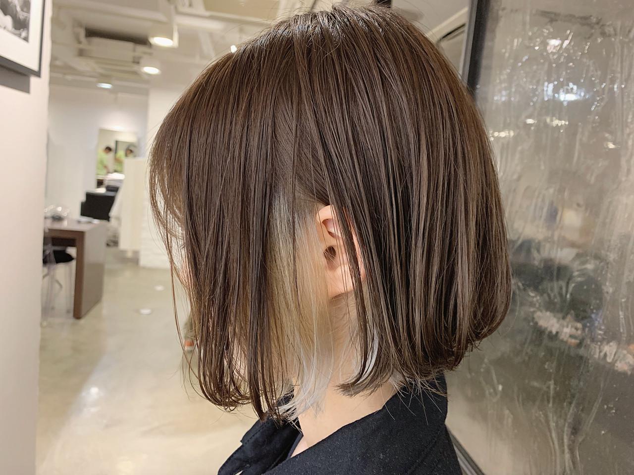 フェミニン ボブヘアー ブリーチ必須 ショートボブ ヘアスタイルや髪型の写真・画像