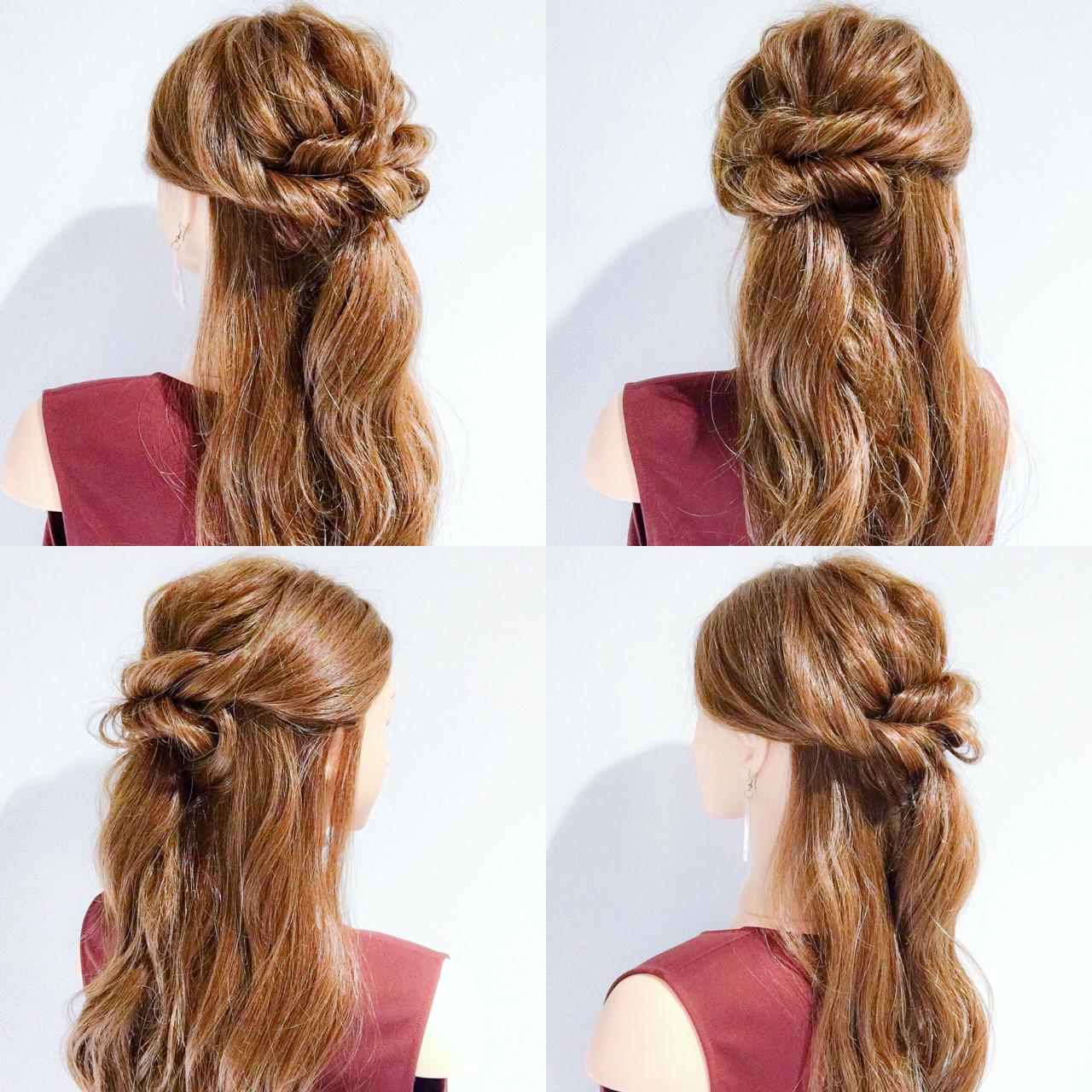 簡単ヘアアレンジ 涼しげ 夏 女子会 ヘアスタイルや髪型の写真・画像