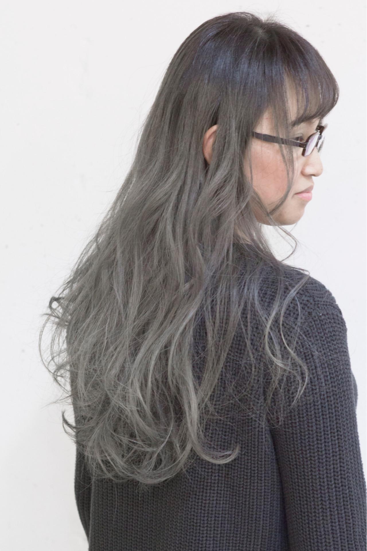 外国人風 ストリート グラデーションカラー アッシュ ヘアスタイルや髪型の写真・画像