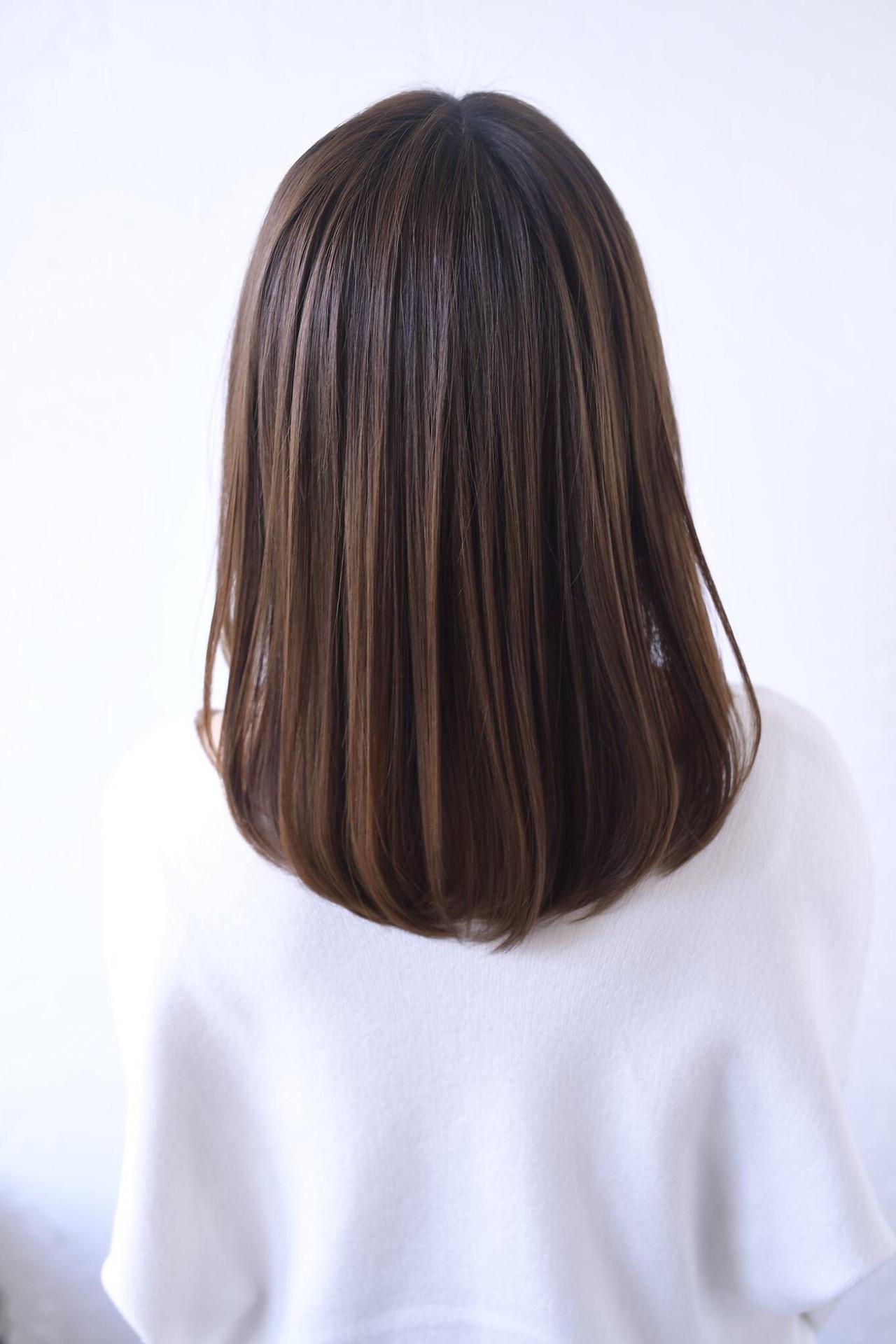 ストレート 美髪 内巻き 似合わせカット ヘアスタイルや髪型の写真・画像