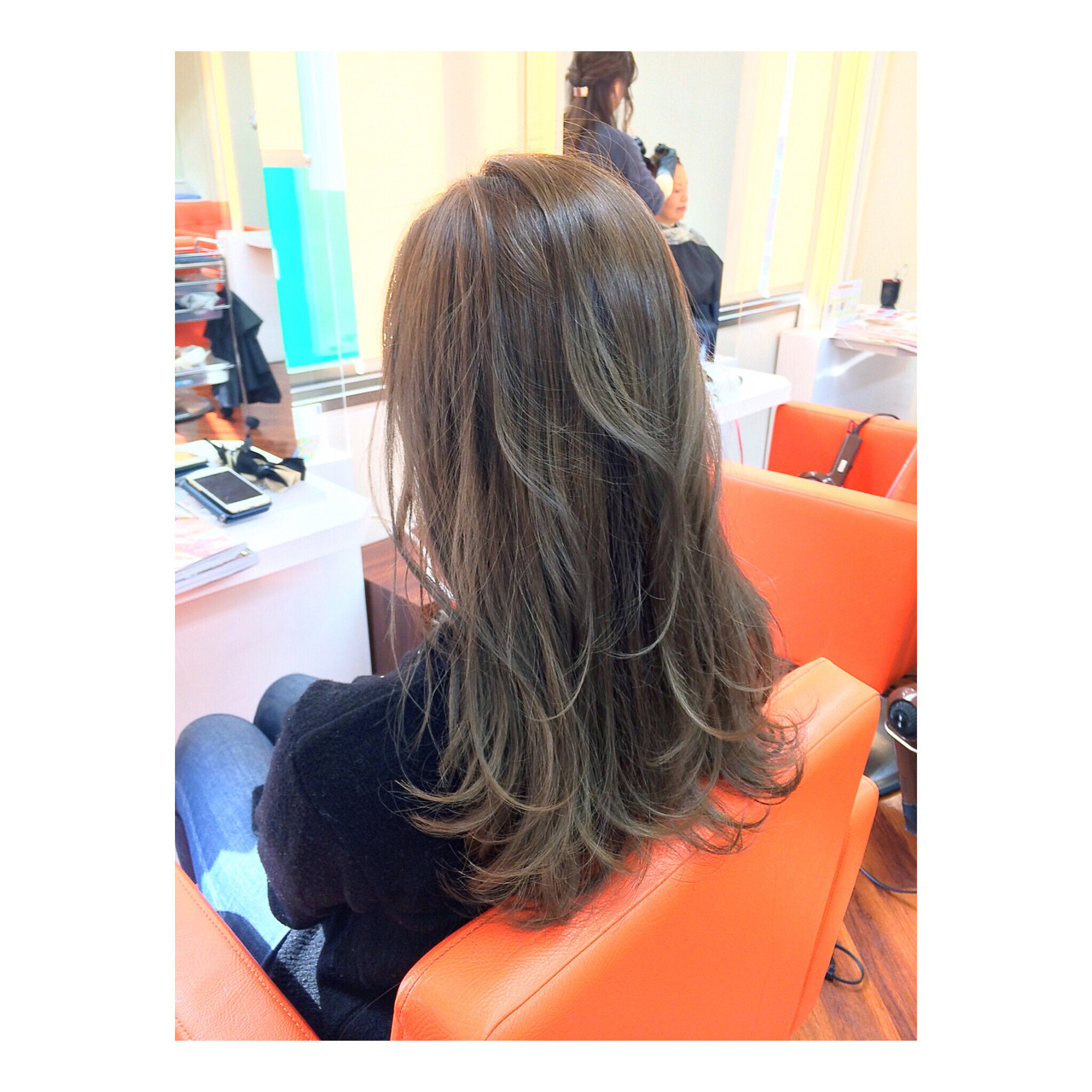 ガーリー ラベンダー ロング 秋 ヘアスタイルや髪型の写真・画像