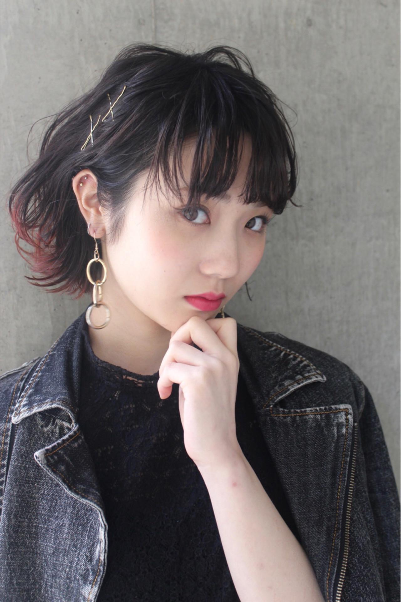 パーマ 前髪あり ハイライト 大人女子 ヘアスタイルや髪型の写真・画像