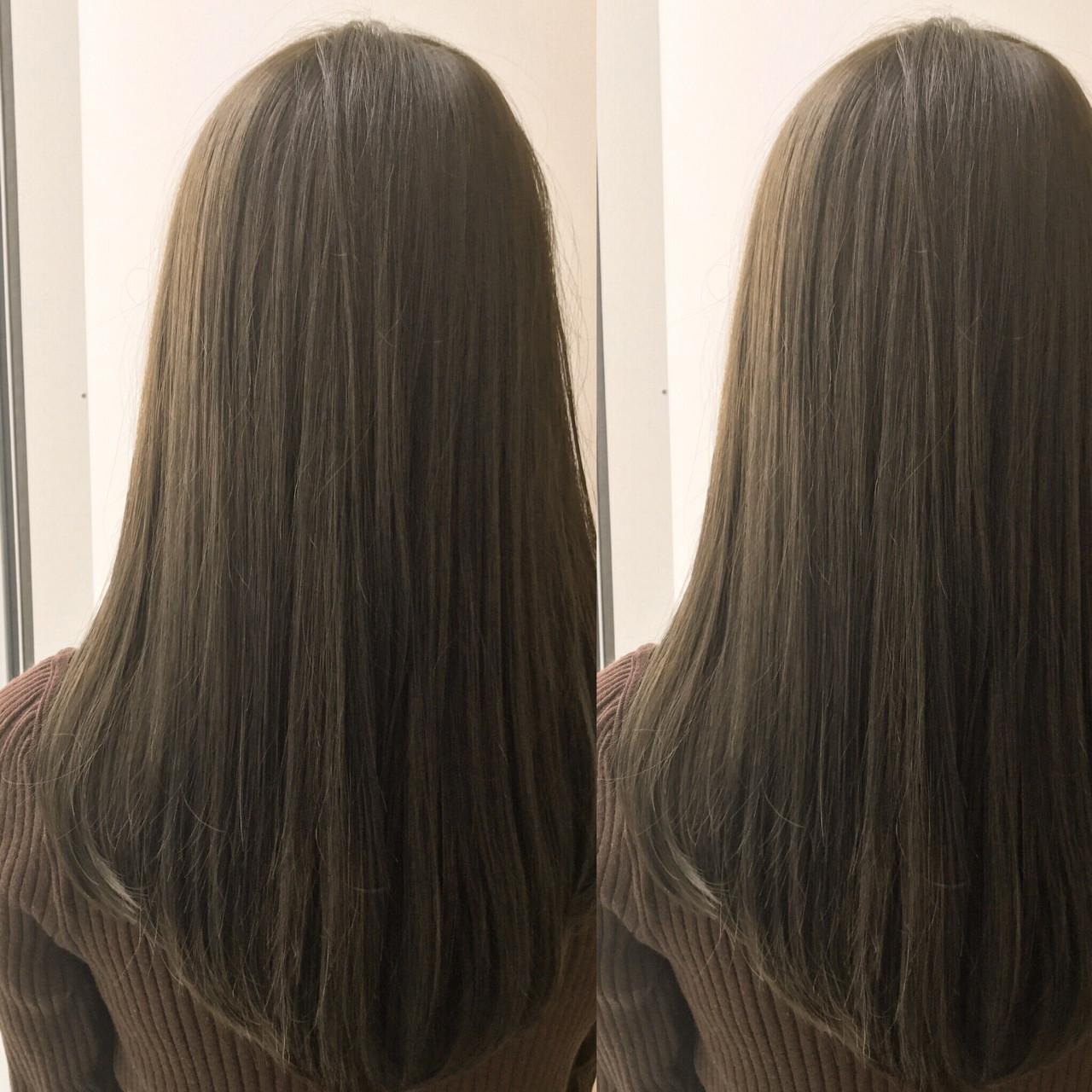 アッシュベージュ グレージュ アッシュグレージュ マット ヘアスタイルや髪型の写真・画像