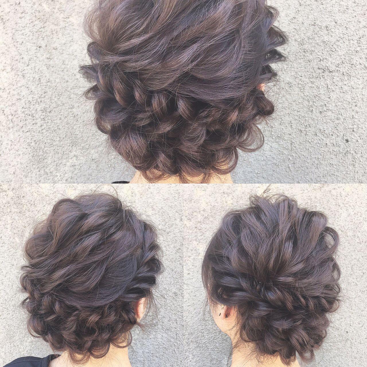 ヘアアレンジ ゆるふわ フェミニン ナチュラル ヘアスタイルや髪型の写真・画像