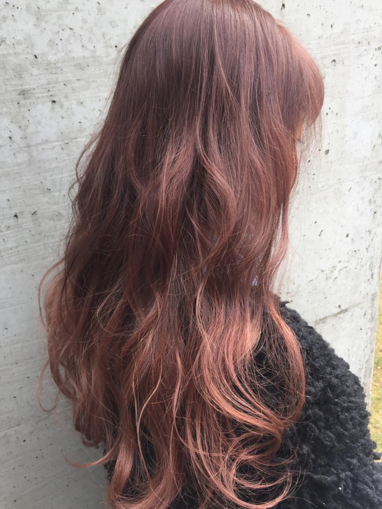 ハイライト グラデーションカラー ピンクアッシュ ピンク ヘアスタイルや髪型の写真・画像 | Mayu / a