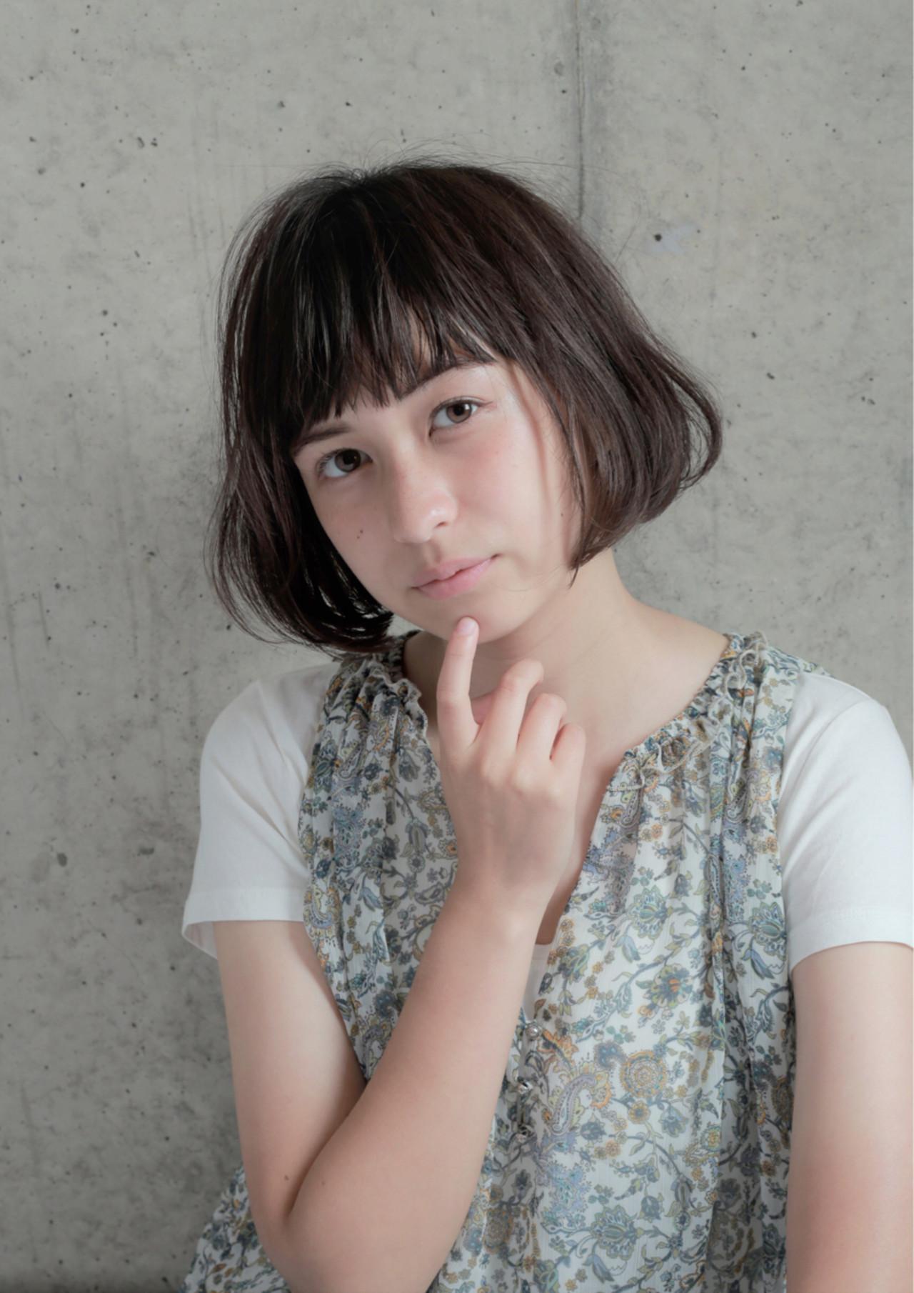 透明感 大人かわいい 外国人風 ボブ ヘアスタイルや髪型の写真・画像