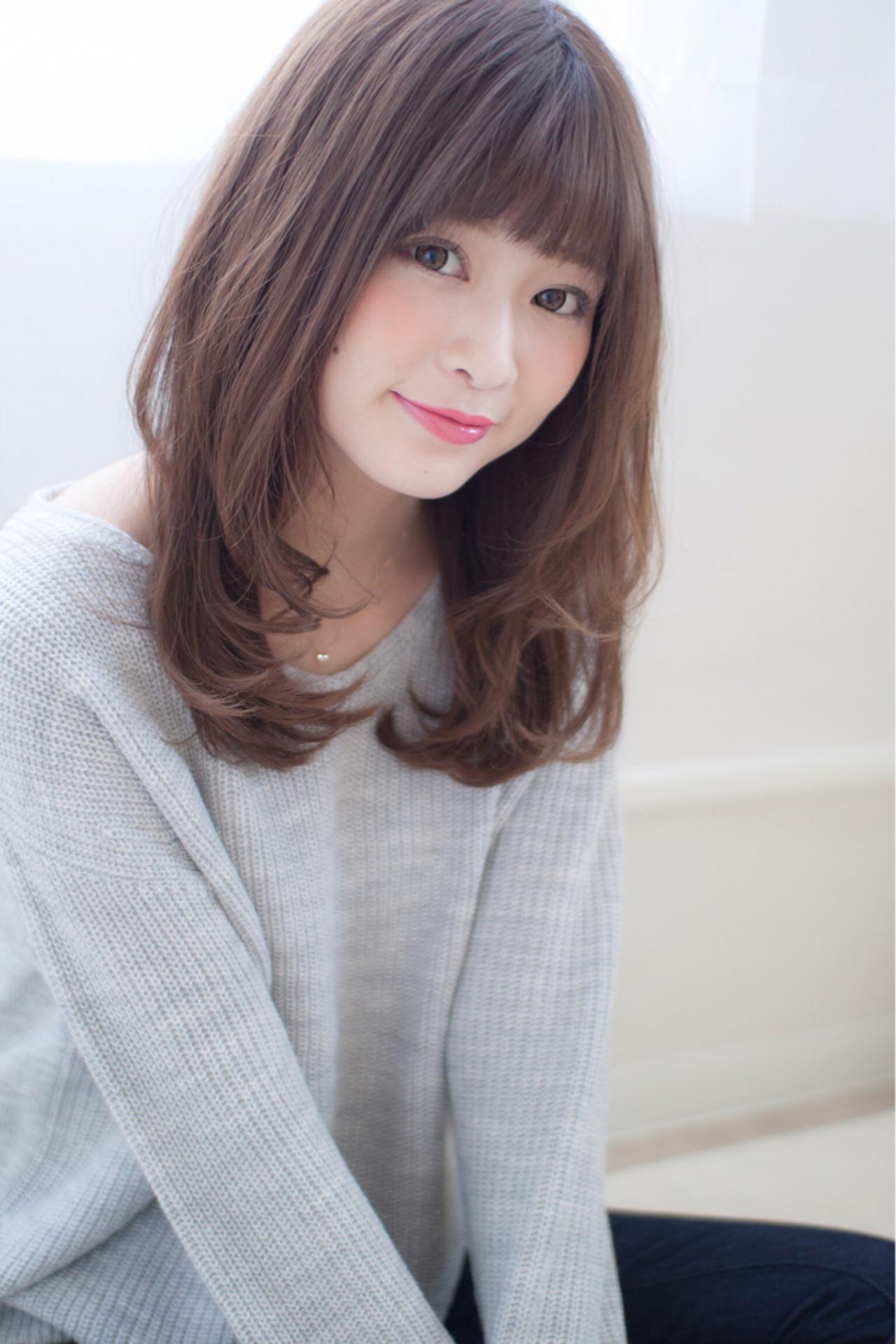 大人かわいい 大人女子 小顔 外国人風 ヘアスタイルや髪型の写真・画像
