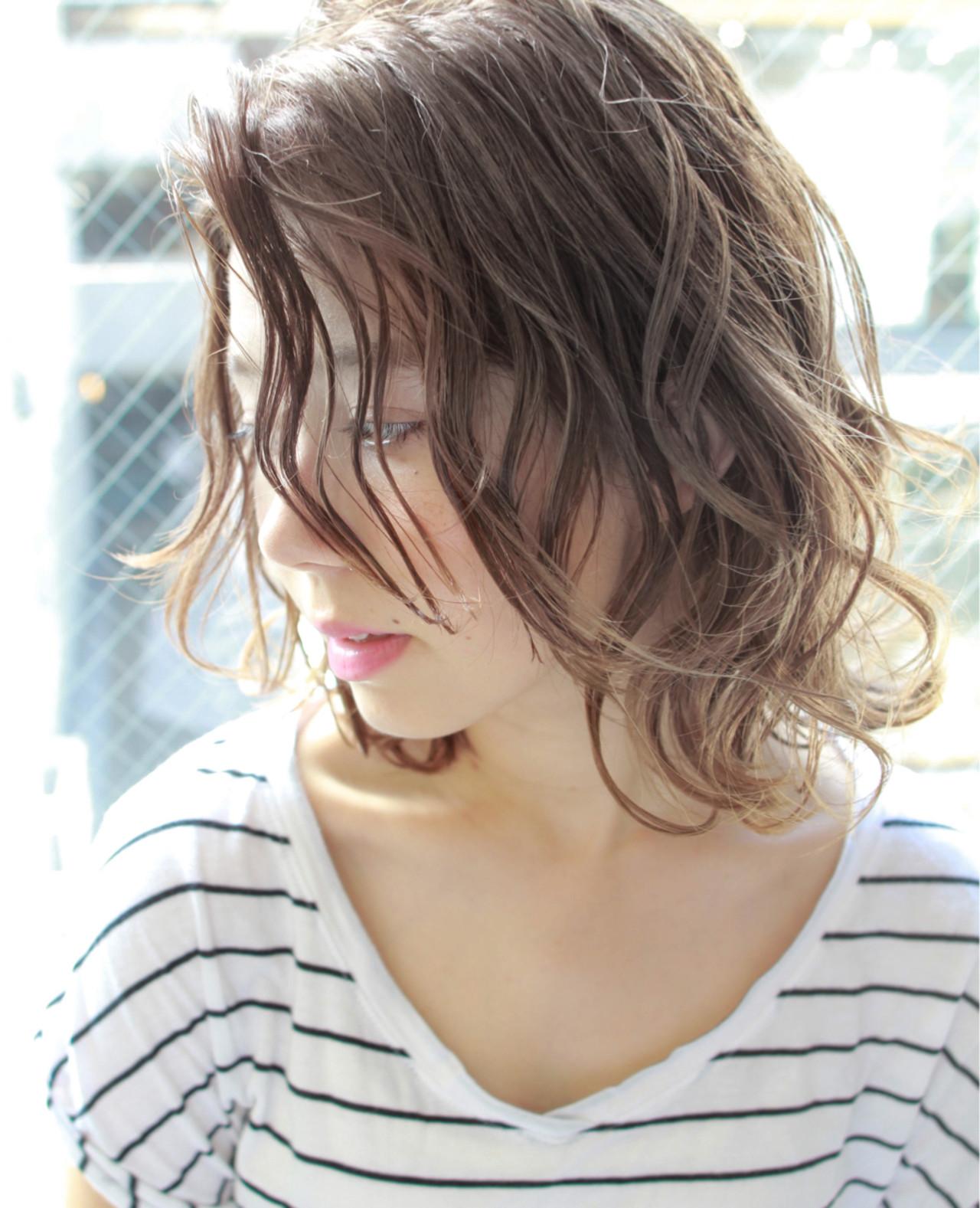 パーマ ハイライト 外国人風 ストリート ヘアスタイルや髪型の写真・画像 | 高沼 達也 / byトルネード / トルネード