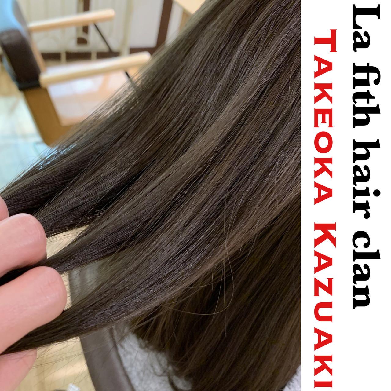 ミディアム ブリーチなし アッシュ 透明感 ヘアスタイルや髪型の写真・画像 | 竹岡 和哲 / La fith hair clan