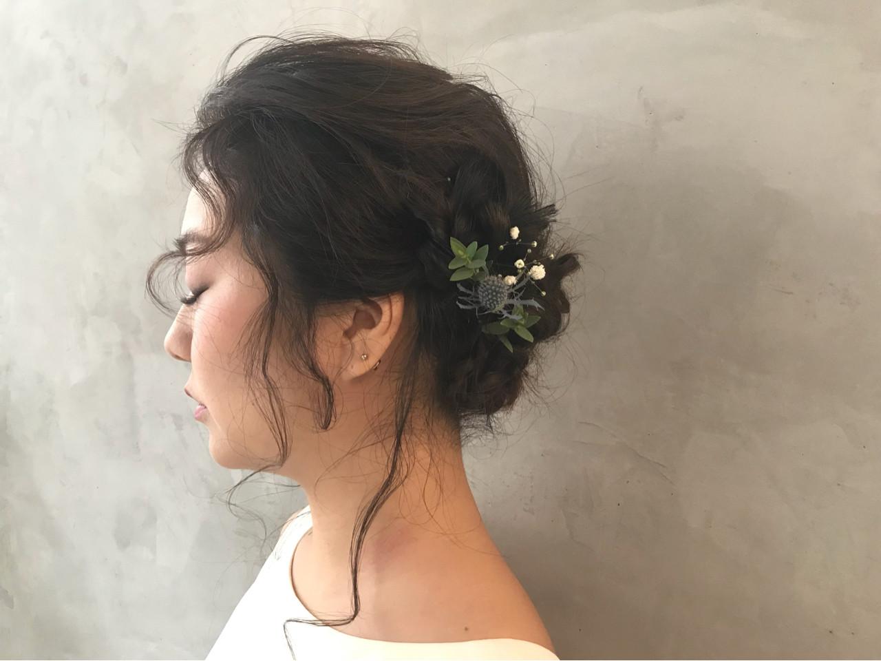 ヘアアレンジ 大人かわいい 二次会 結婚式 ヘアスタイルや髪型の写真・画像 | brisa 野田 沙織 / brisa ブリッサ