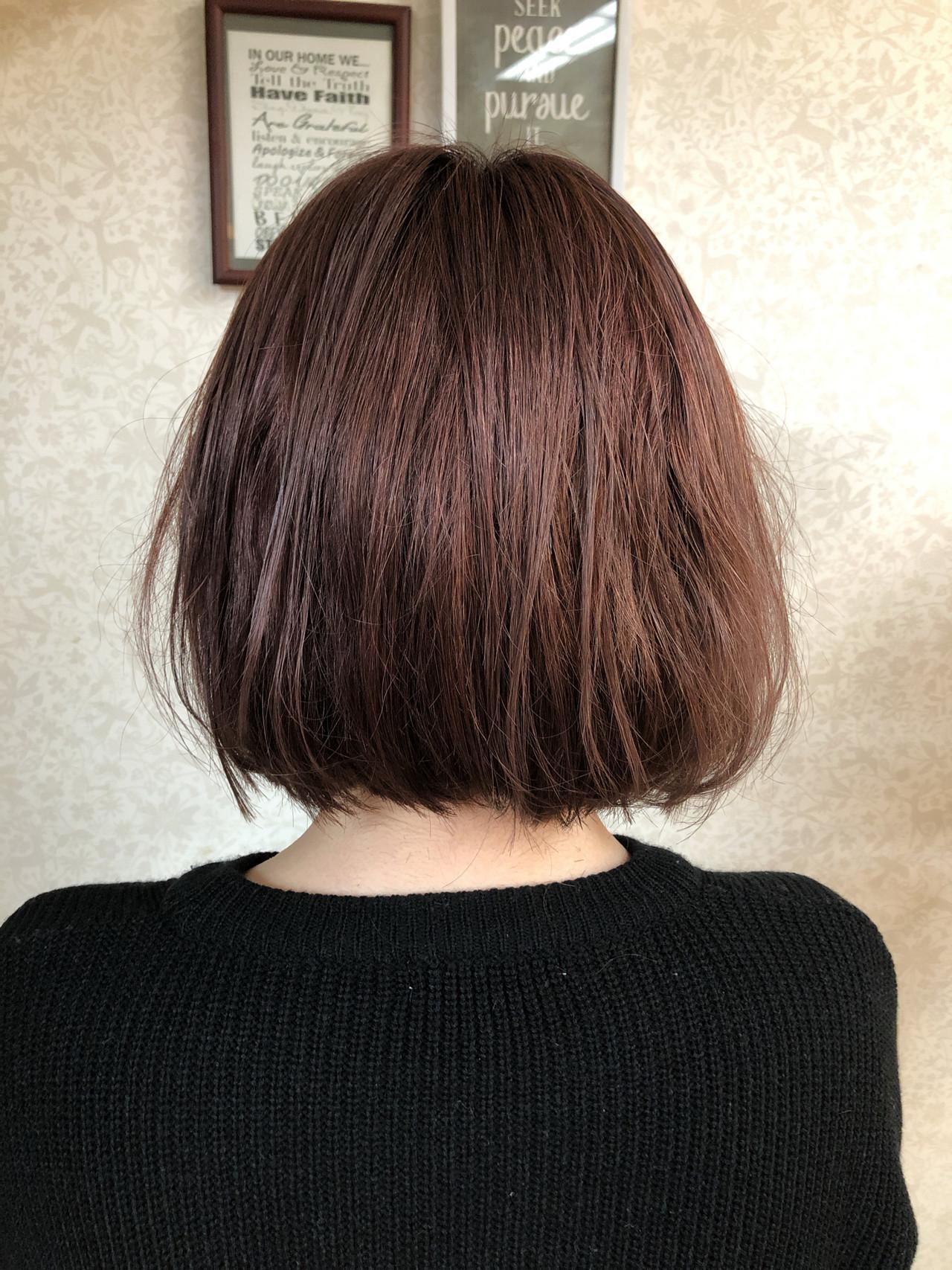ナチュラル オレンジベージュ アプリコットオレンジ オレンジ ヘアスタイルや髪型の写真・画像   米崎勇 / felicita
