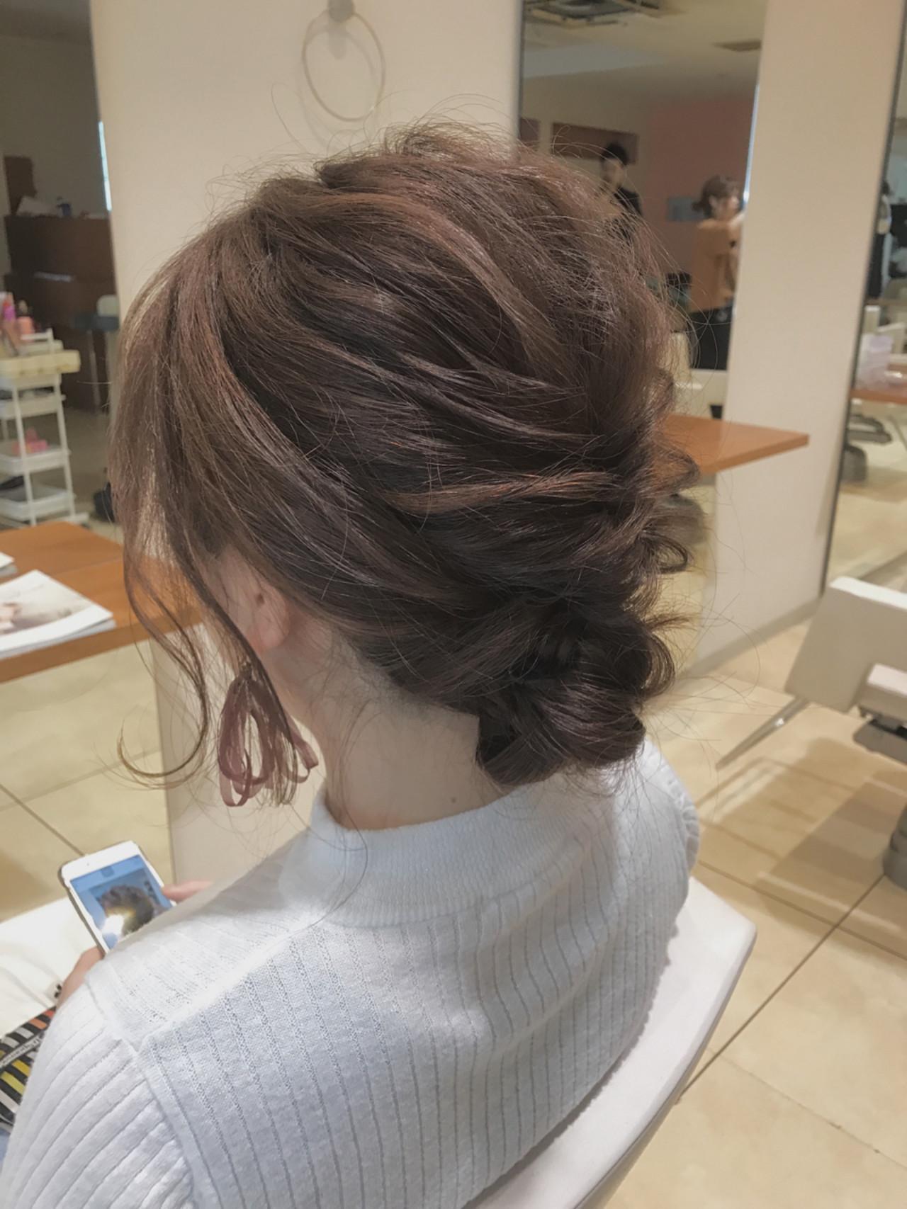 ヘアアレンジ ショート 簡単ヘアアレンジ アンニュイ ヘアスタイルや髪型の写真・画像