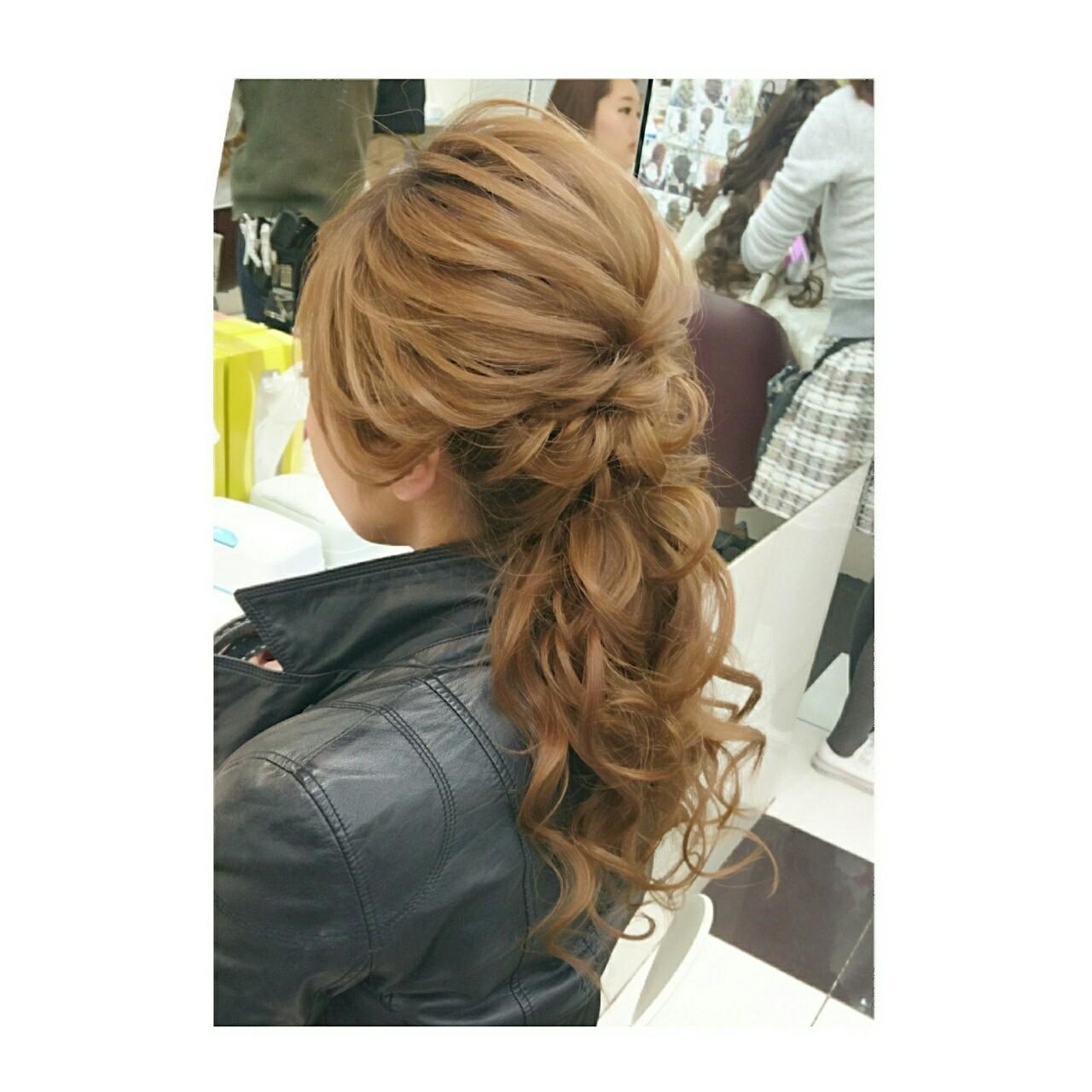 上品 大人かわいい パーティ 大人女子 ヘアスタイルや髪型の写真・画像   chisa* / CURE
