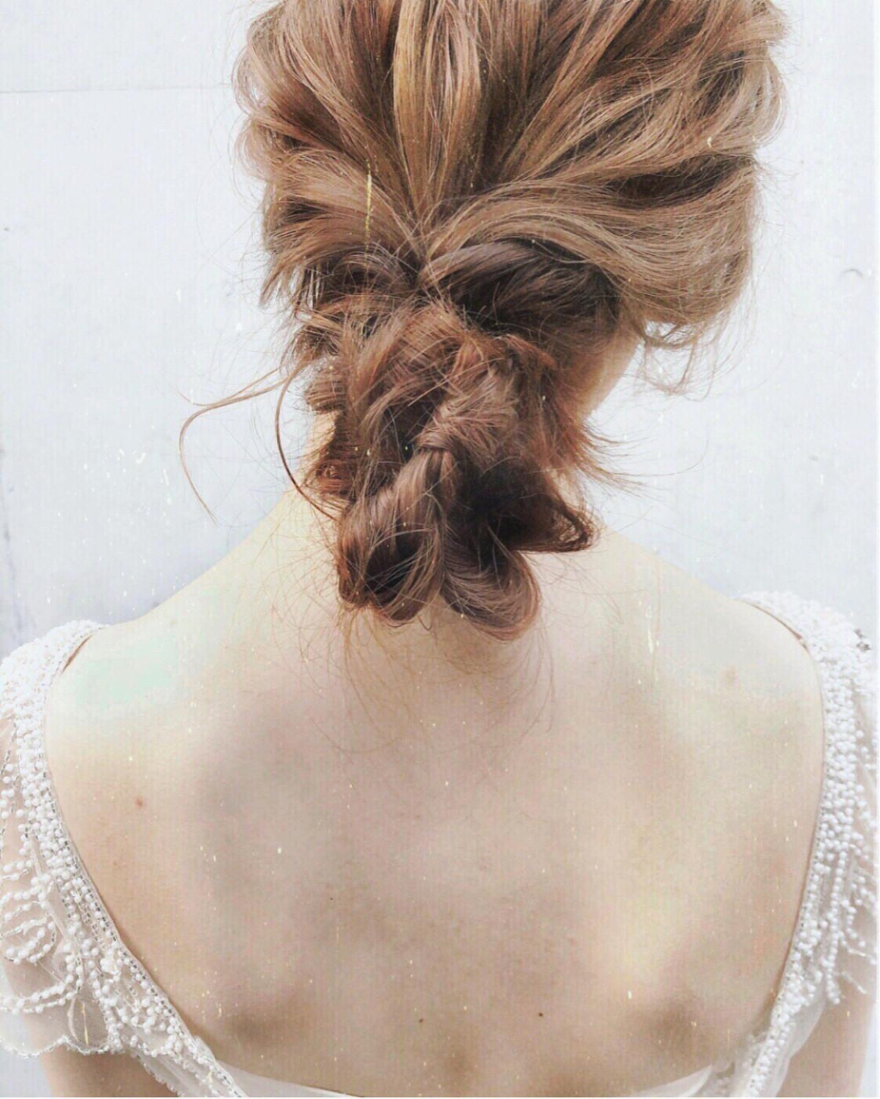 ヘアアレンジ パーティ 大人女子 アンニュイ ヘアスタイルや髪型の写真・画像