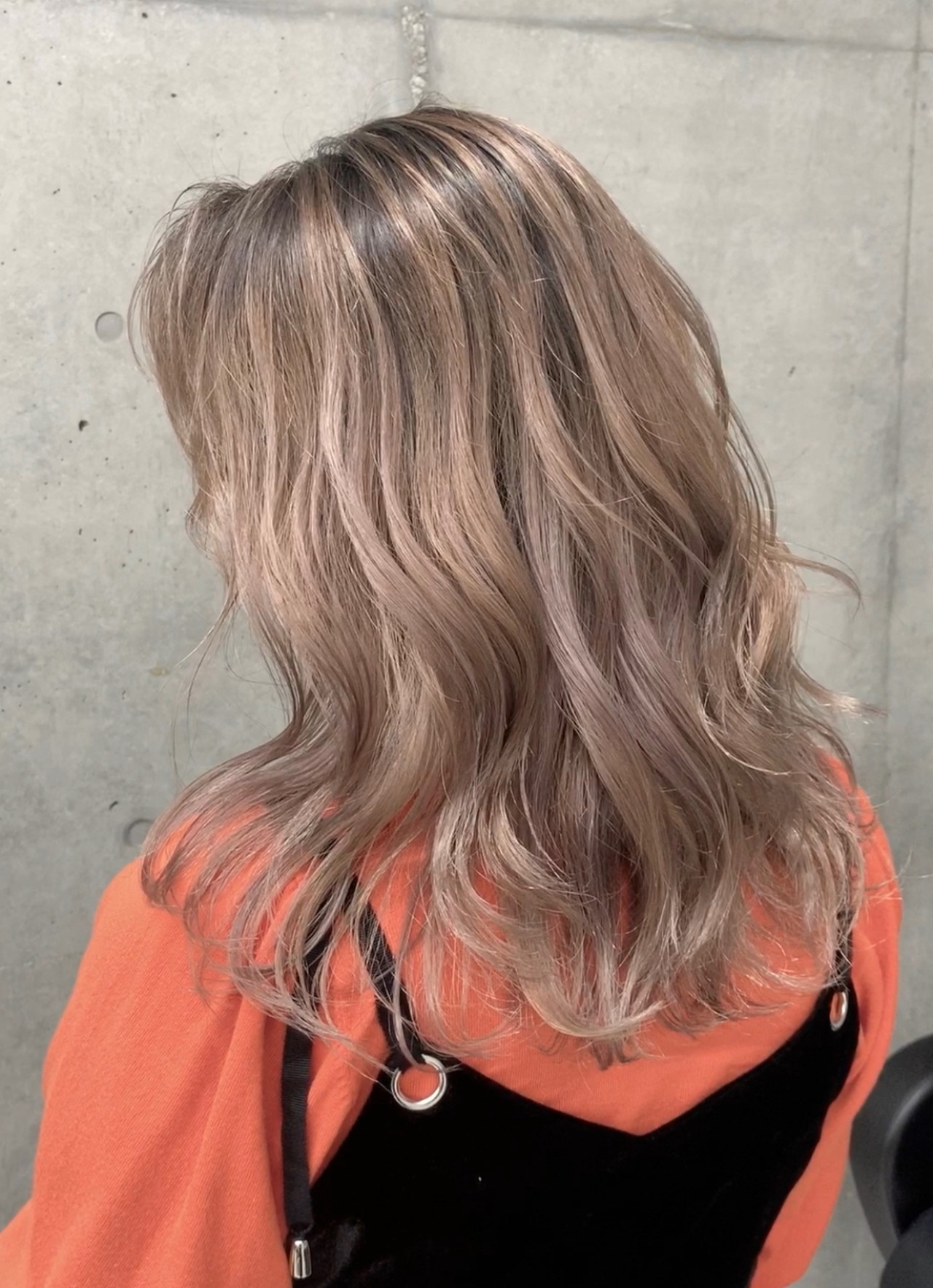 外国人風カラー 外国人風 ミディアム ブロンド ヘアスタイルや髪型の写真・画像