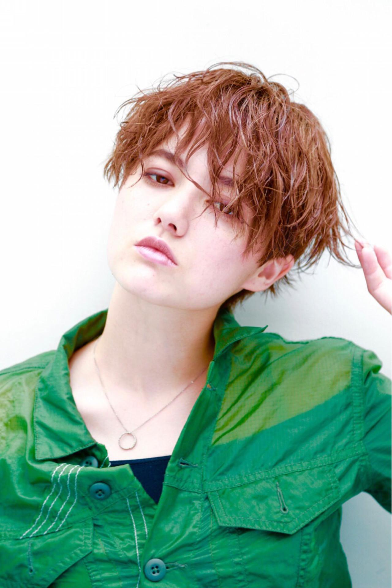 マニッシュ ショート 小顔 ストリート ヘアスタイルや髪型の写真・画像 | KAE / NORA HAIR SALON