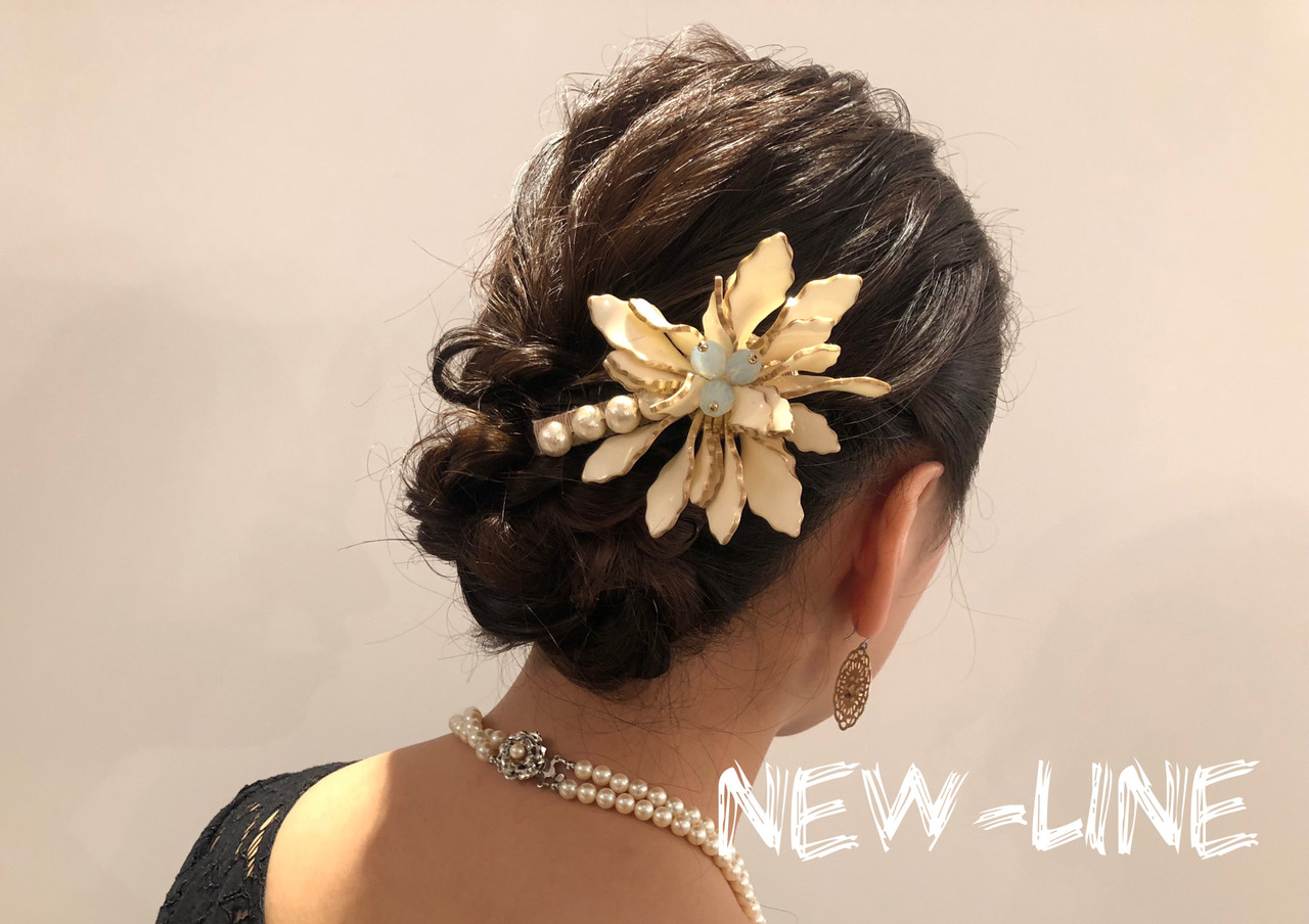 結婚式 ヘアアレンジ 簡単ヘアアレンジ デート ヘアスタイルや髪型の写真・画像   YUKA / NEWLINE