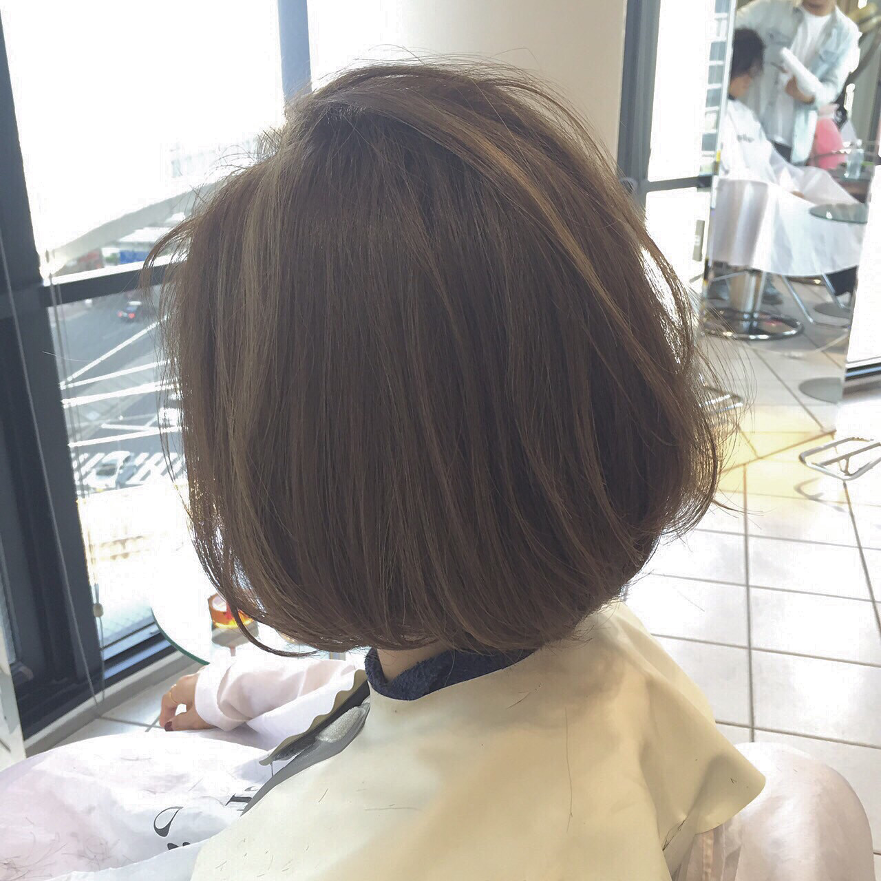 ハイライト 色気 ボブ 大人女子 ヘアスタイルや髪型の写真・画像