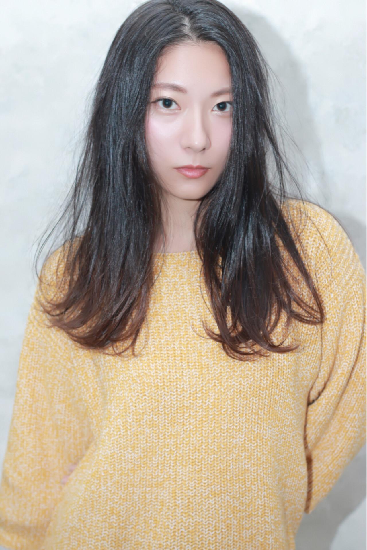 大人女子 暗髪 コンサバ ロング ヘアスタイルや髪型の写真・画像