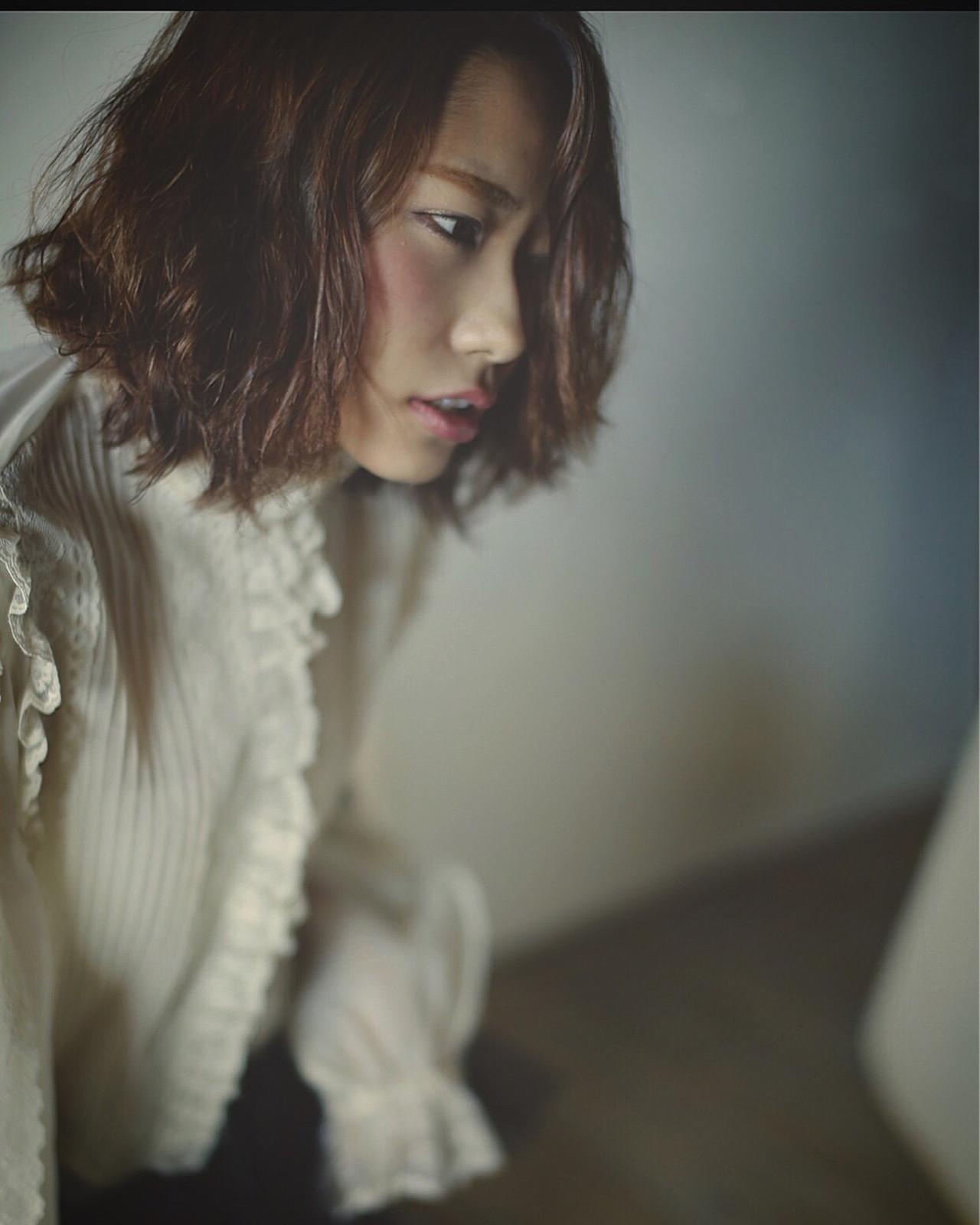 ゆるふわ 大人かわいい ナチュラル パーマ ヘアスタイルや髪型の写真・画像 | 清水桃子 / ミルクブッシュ / ミルクブッシュ
