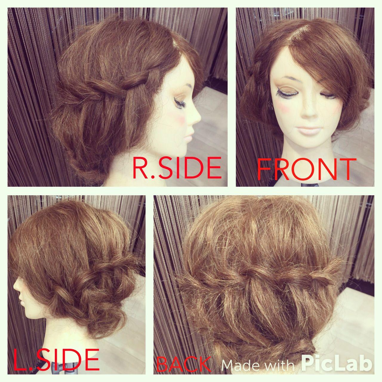 ストリート 波ウェーブ ヘアアレンジ セミロング ヘアスタイルや髪型の写真・画像