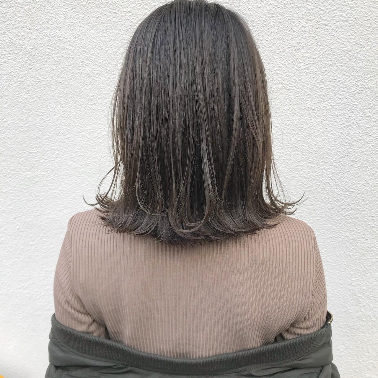ナチュラル ロブ ゆるふわ アンニュイ ヘアスタイルや髪型の写真・画像