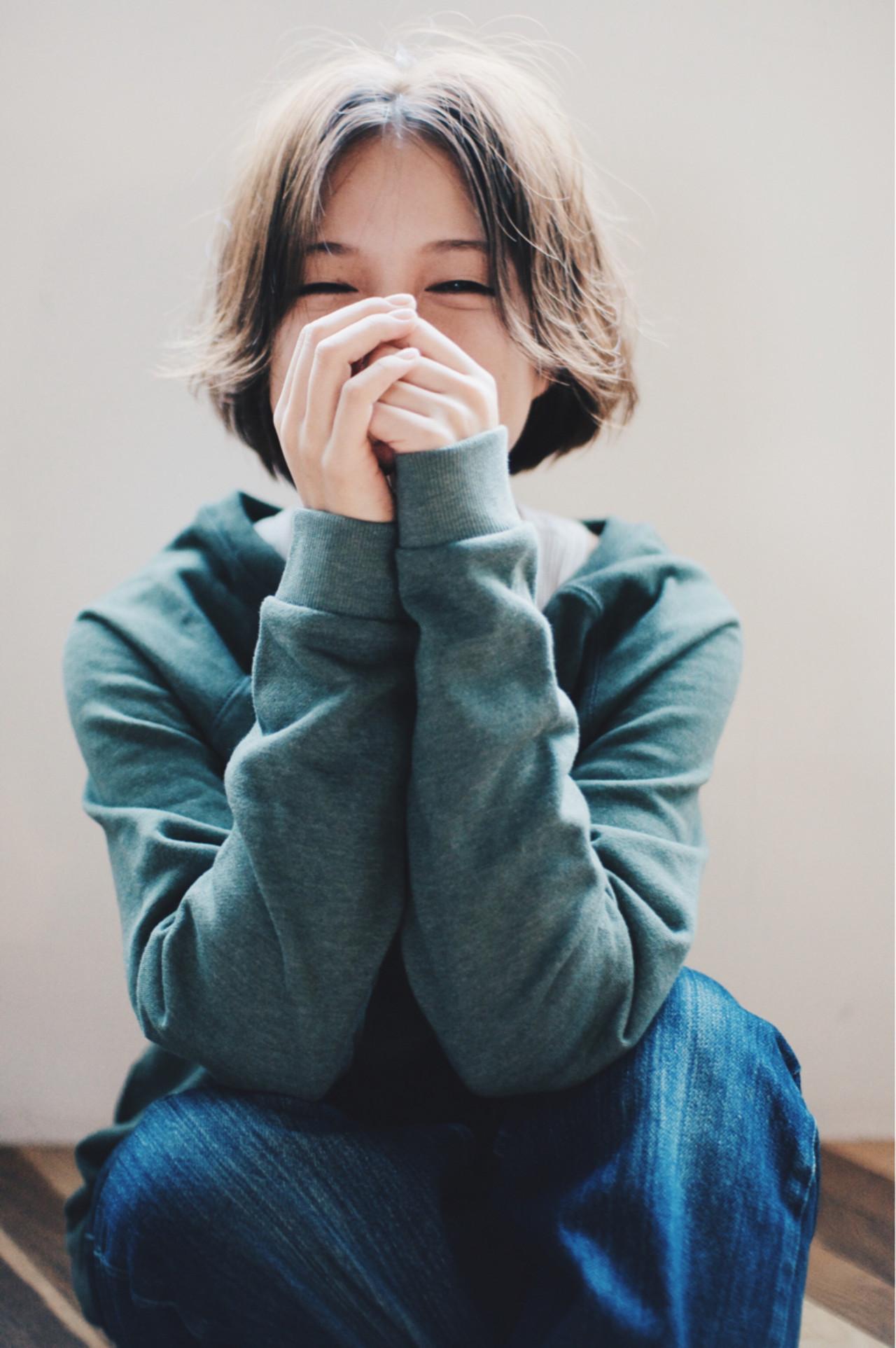 ハイライト ショート アッシュ 外国人風 ヘアスタイルや髪型の写真・画像   金子大企 / HOMIE TOKYO