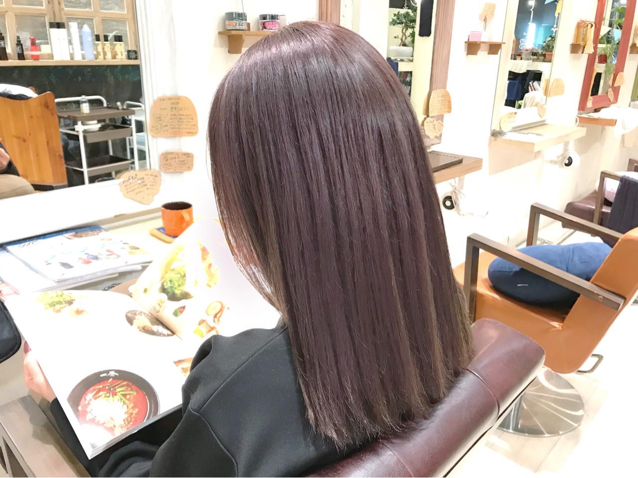 大人女子 ラベンダーアッシュ グレー アッシュ ヘアスタイルや髪型の写真・画像