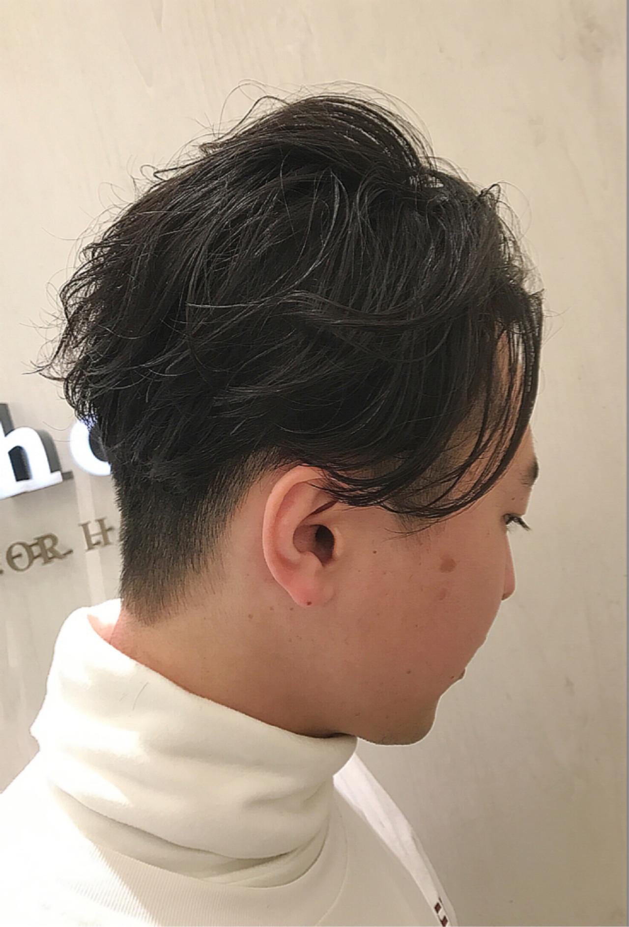 ショート ナチュラル メンズショート メンズパーマ ヘアスタイルや髪型の写真・画像