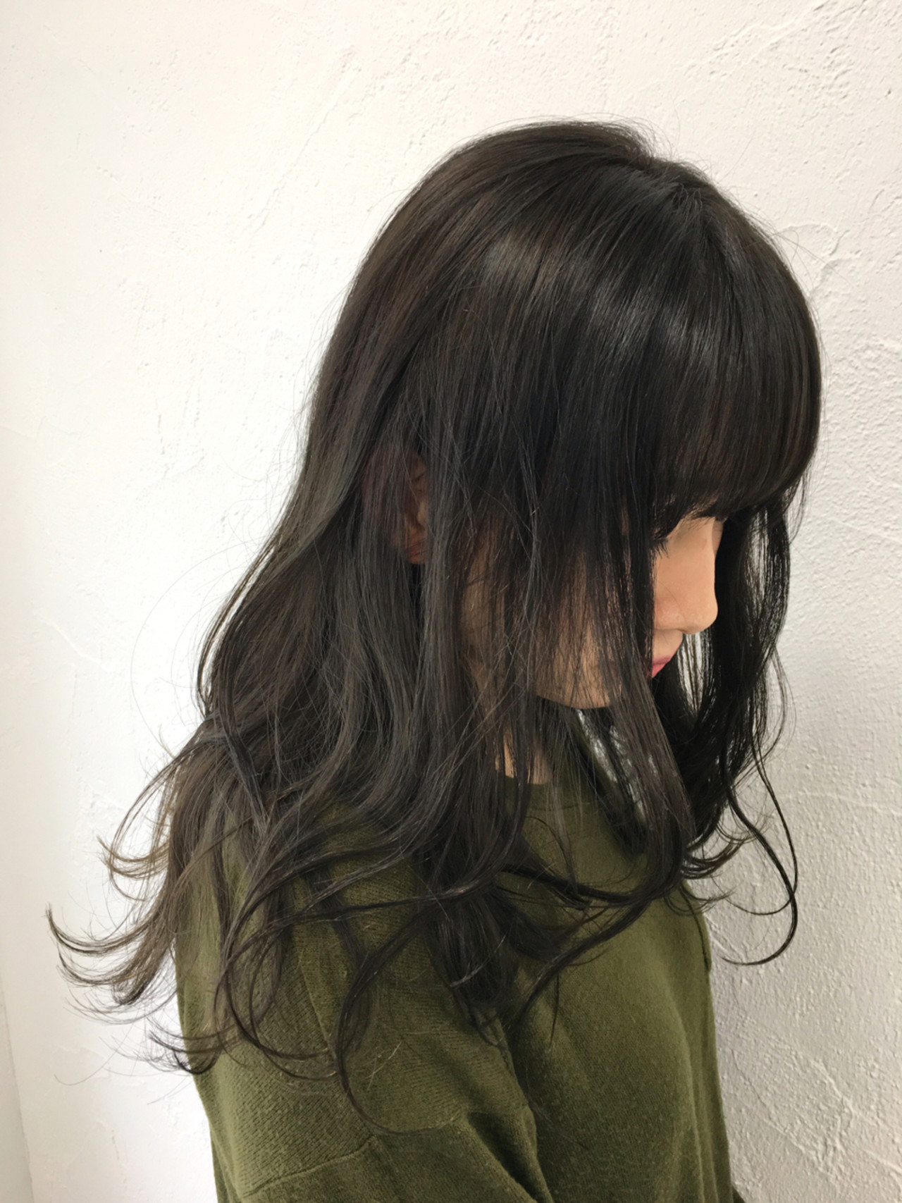 冬 暗髪 ストリート 外国人風 ヘアスタイルや髪型の写真・画像