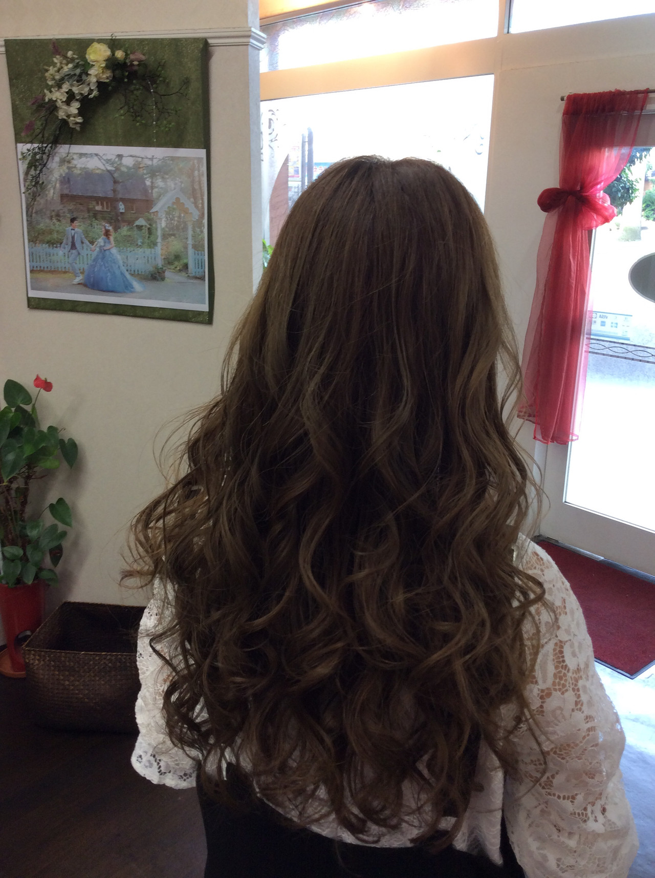 ロング オリーブアッシュ アッシュグレージュ アッシュ ヘアスタイルや髪型の写真・画像 | rumiLINKS美容室 / リンクス美容室