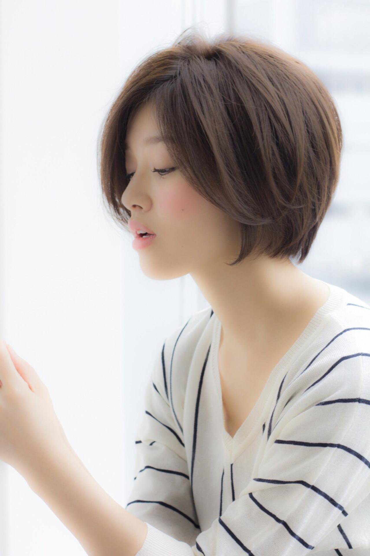 ナチュラル ショート 小顔 色気 ヘアスタイルや髪型の写真・画像 | 寺尾 拓巳 / Ramie (ラミエ)