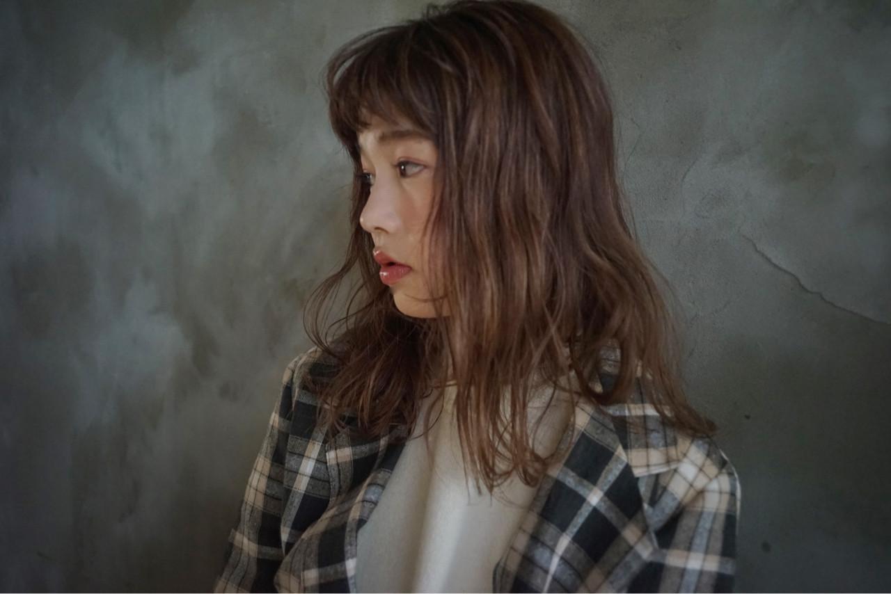 アンニュイほつれヘア グレージュ オーガニック ナチュラル ヘアスタイルや髪型の写真・画像 | 前野裕介 / enne hair&organic