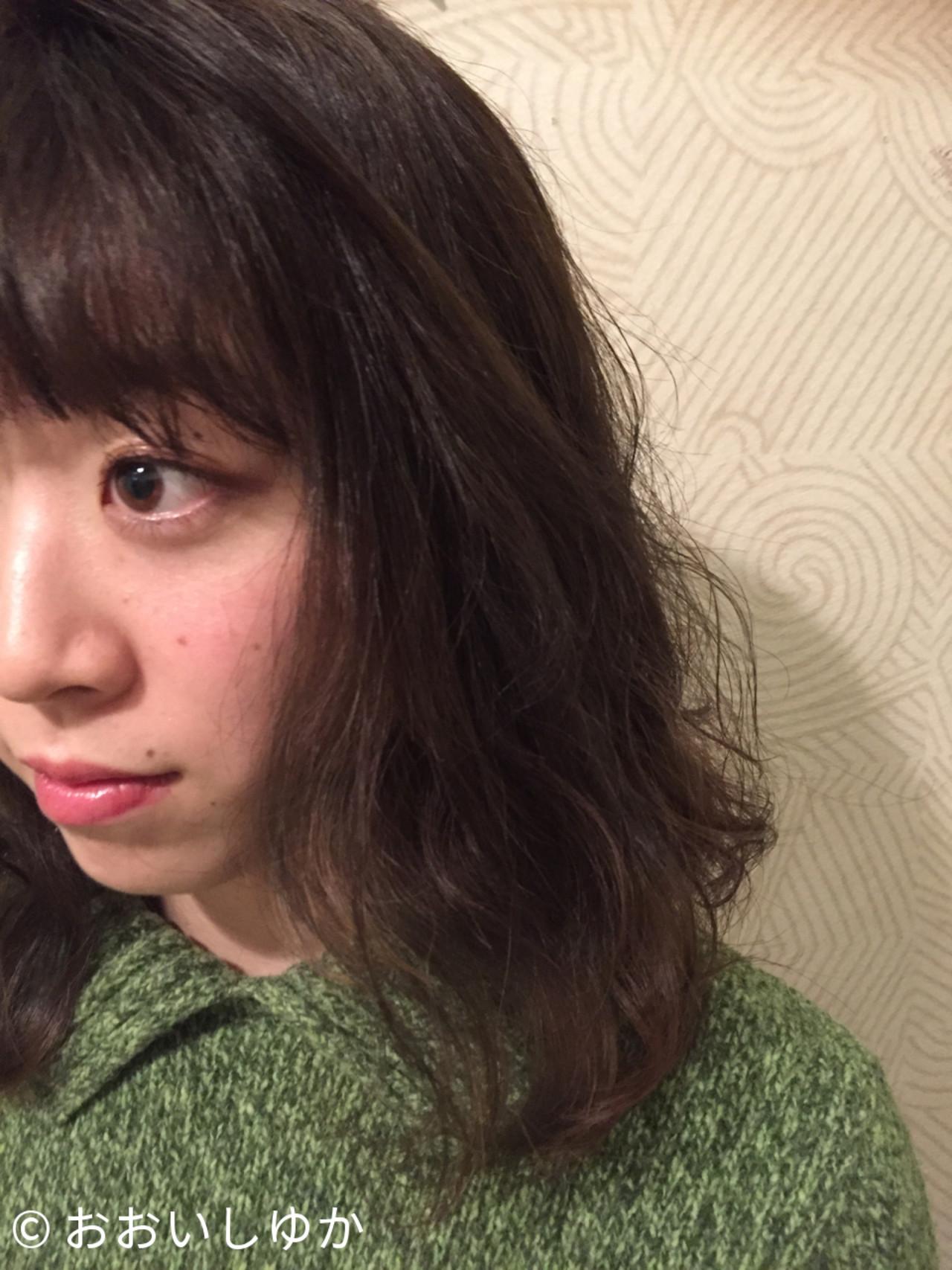 グレージュ インナーカラー マット 暗髪 ヘアスタイルや髪型の写真・画像 | おおいしゆか / vira hair