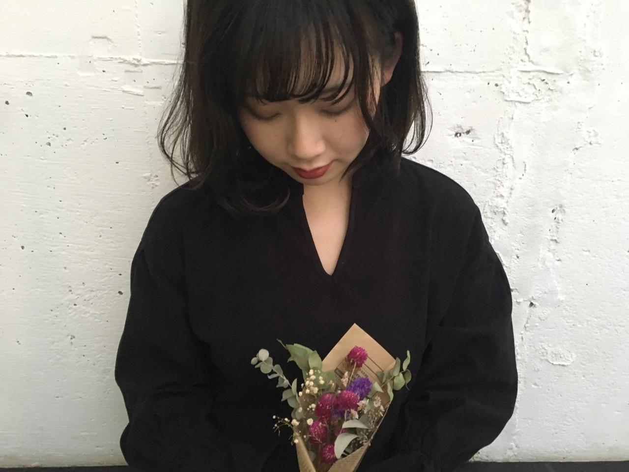 ナチュラル パーマ 暗髪 色気 ヘアスタイルや髪型の写真・画像 | 長 賢太郎 / ky-go