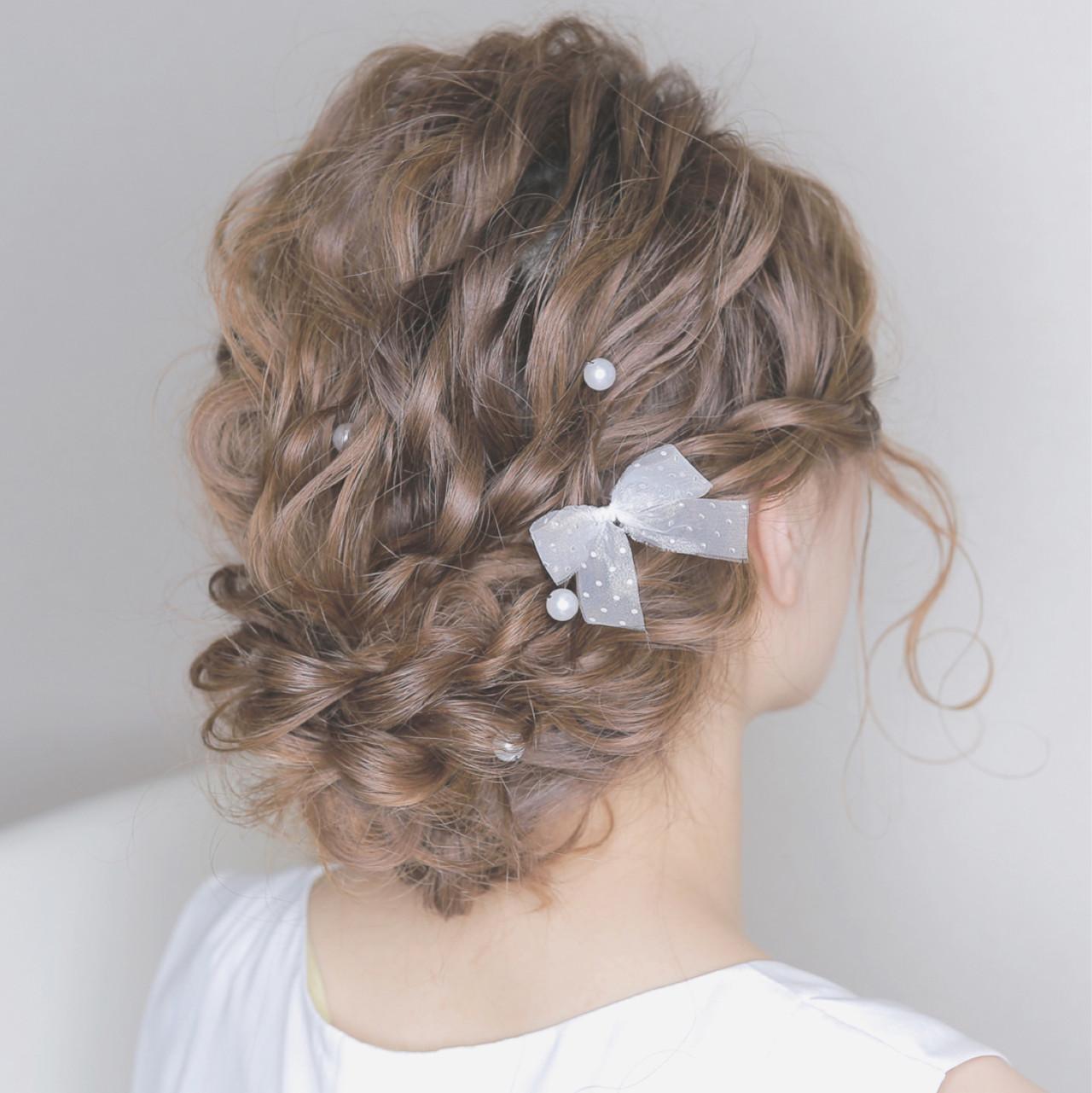 愛され パーティ セミロング フェミニン ヘアスタイルや髪型の写真・画像 | chiaki / magnet hair
