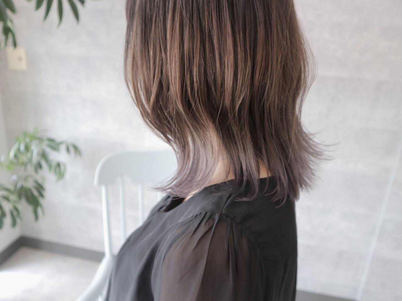 大人女子 グラデーションカラー ボブ ミディアム ヘアスタイルや髪型の写真・画像 | 桑村亮太/CALIF hair store / 函館/CALIF hair store/キャリフ ヘアストア