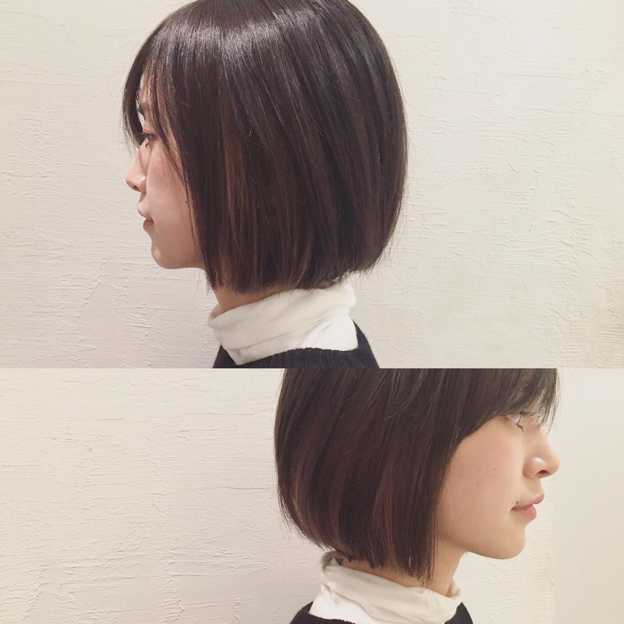 ハイライト ナチュラル ボブ 色気 ヘアスタイルや髪型の写真・画像