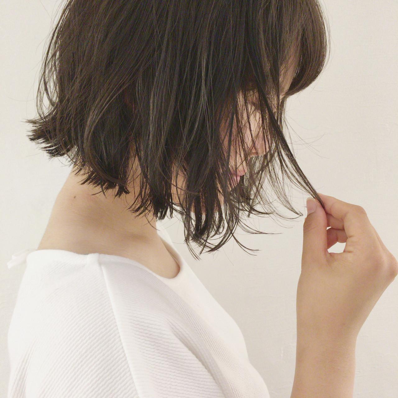 ゆるふわ ボブ ショートボブ ナチュラル ヘアスタイルや髪型の写真・画像